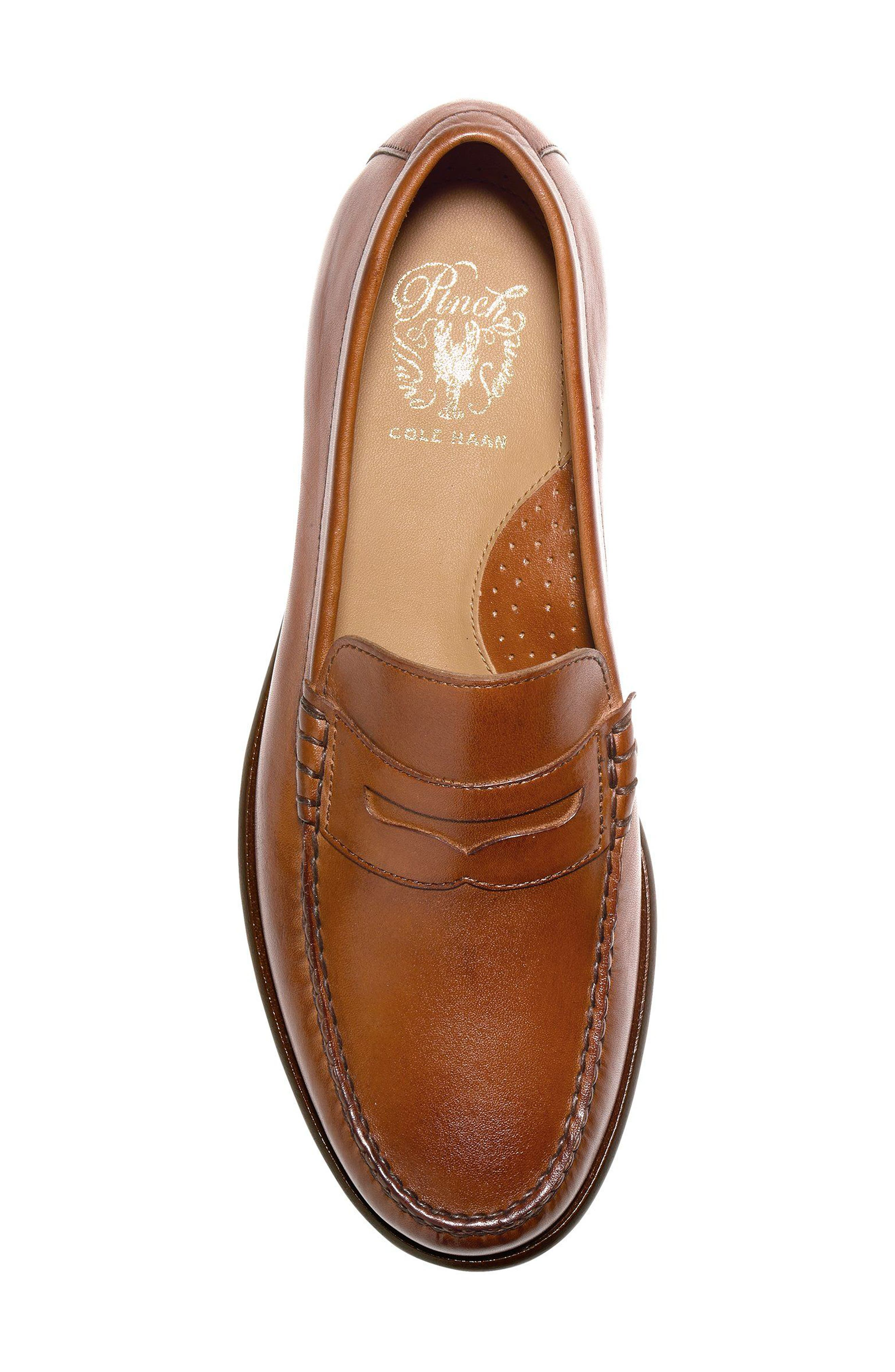 Pinch Penny Loafer,                             Alternate thumbnail 5, color,                             British Tan Leather