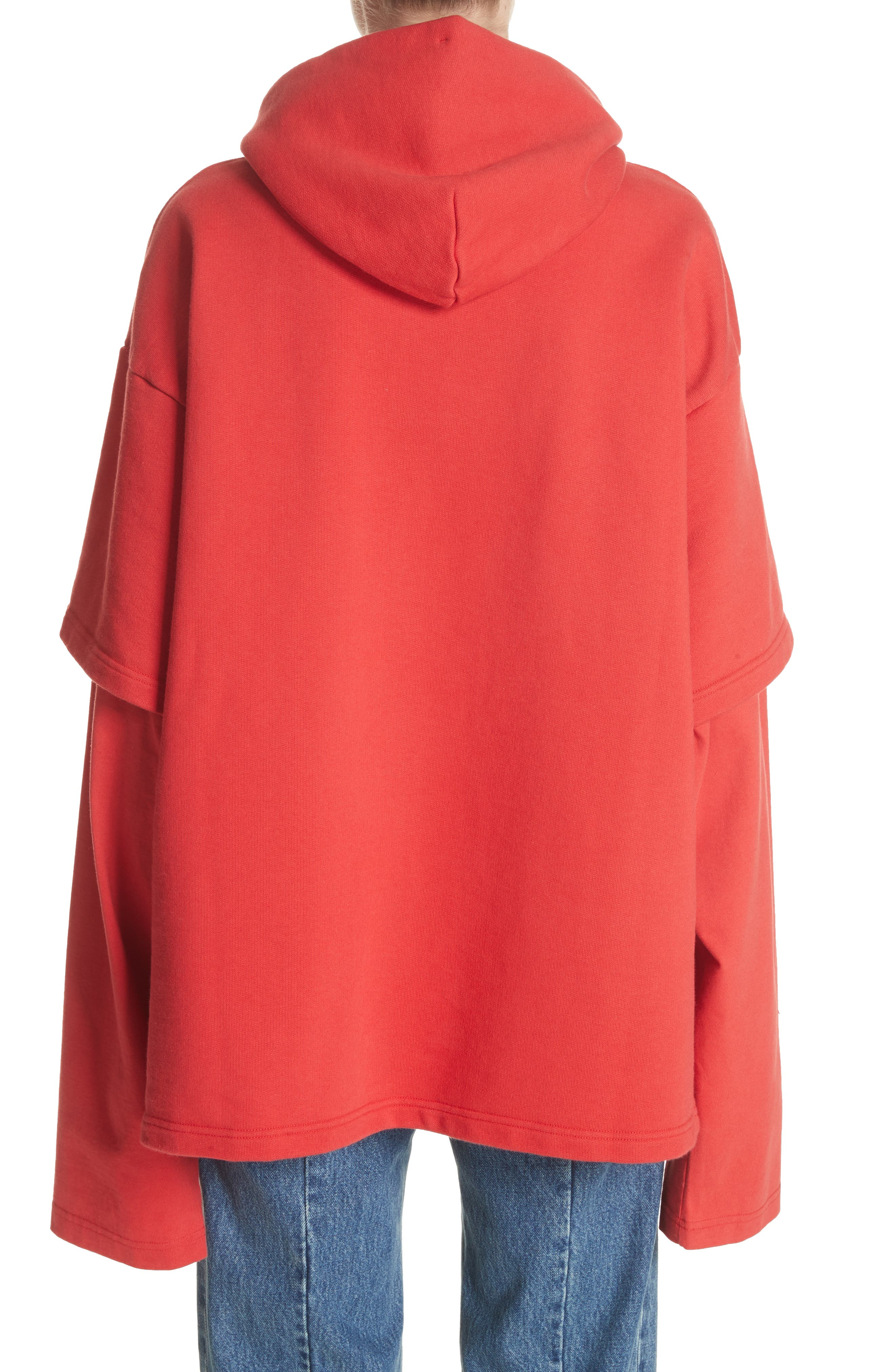 Tommy Hilfiger Double Sleeve Hoodie,                             Alternate thumbnail 2, color,                             Red