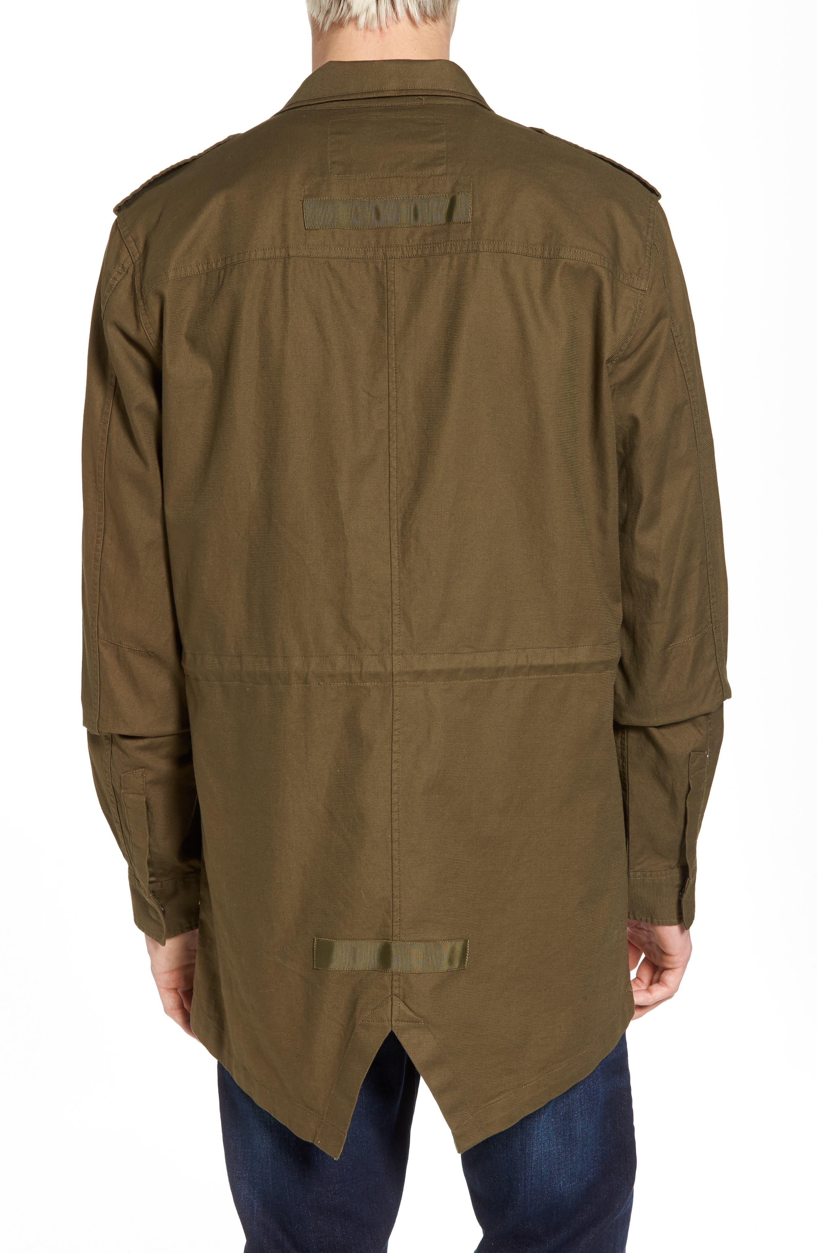 Shirt Jacket Parka,                             Alternate thumbnail 2, color,                             Army