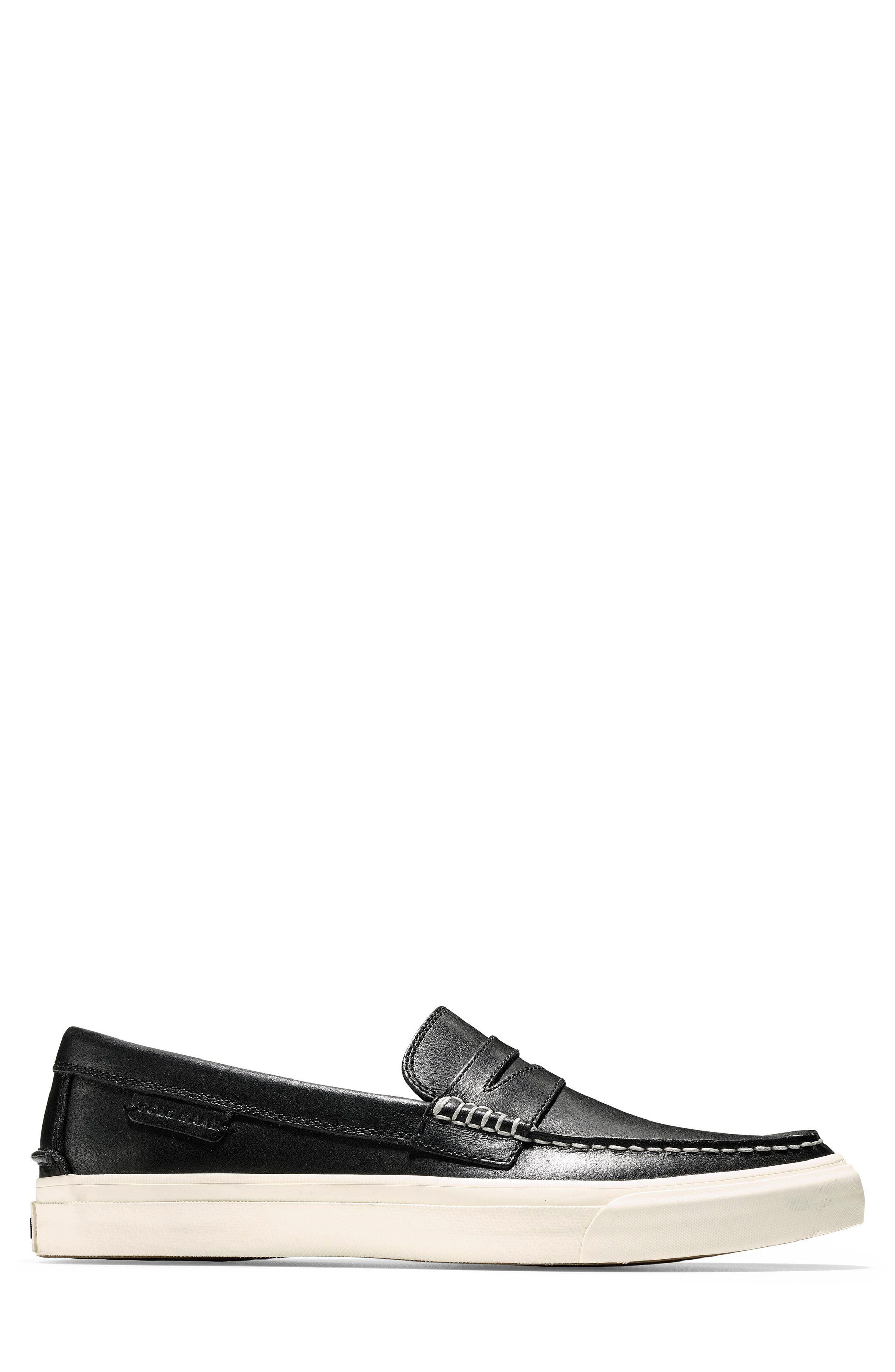 Pinch Weekend LX Penny Loafer,                             Alternate thumbnail 3, color,                             Black/ White