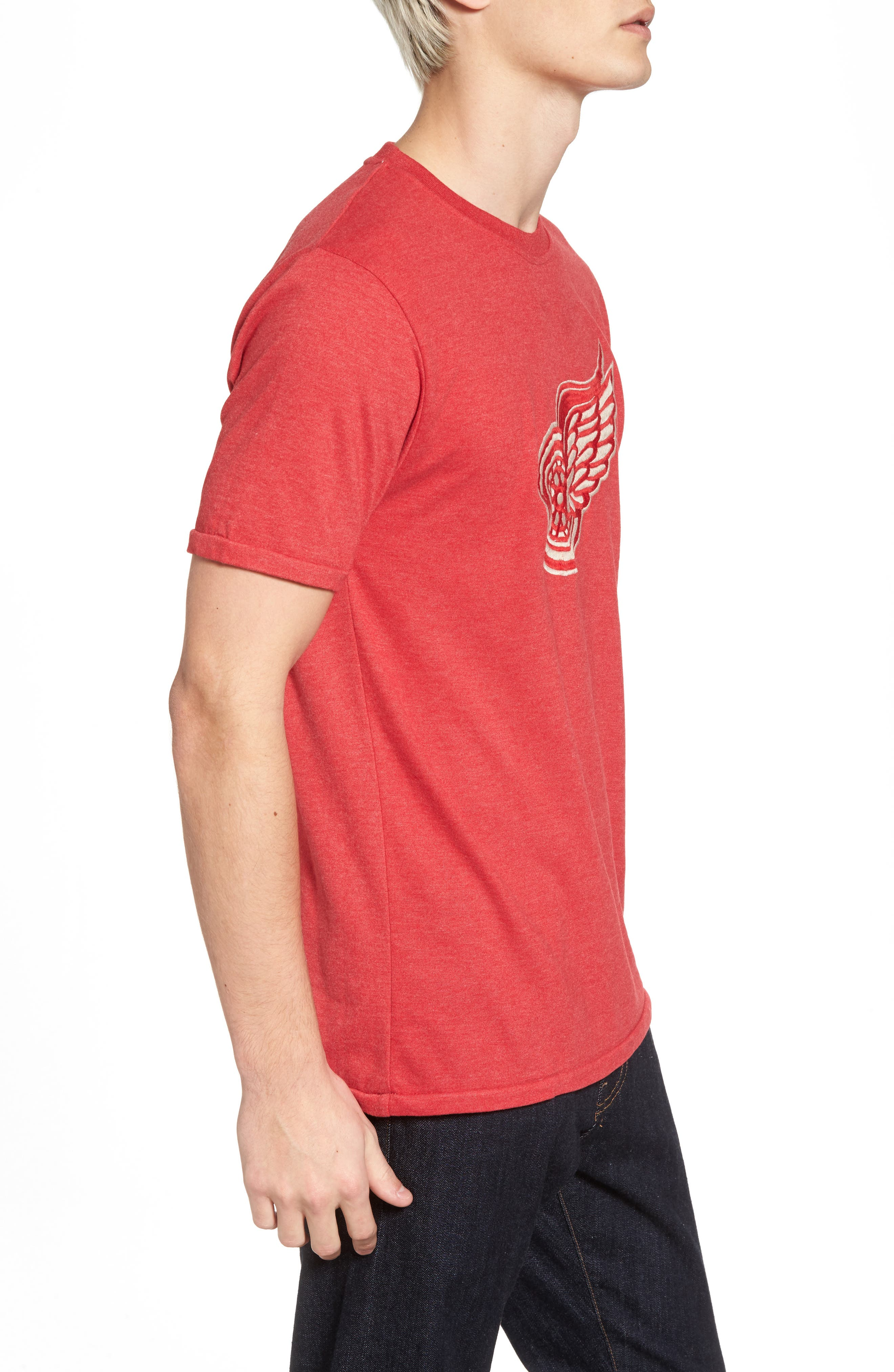 Hillwood Red Wings T-Shirt,                             Alternate thumbnail 3, color,                             Heather Red