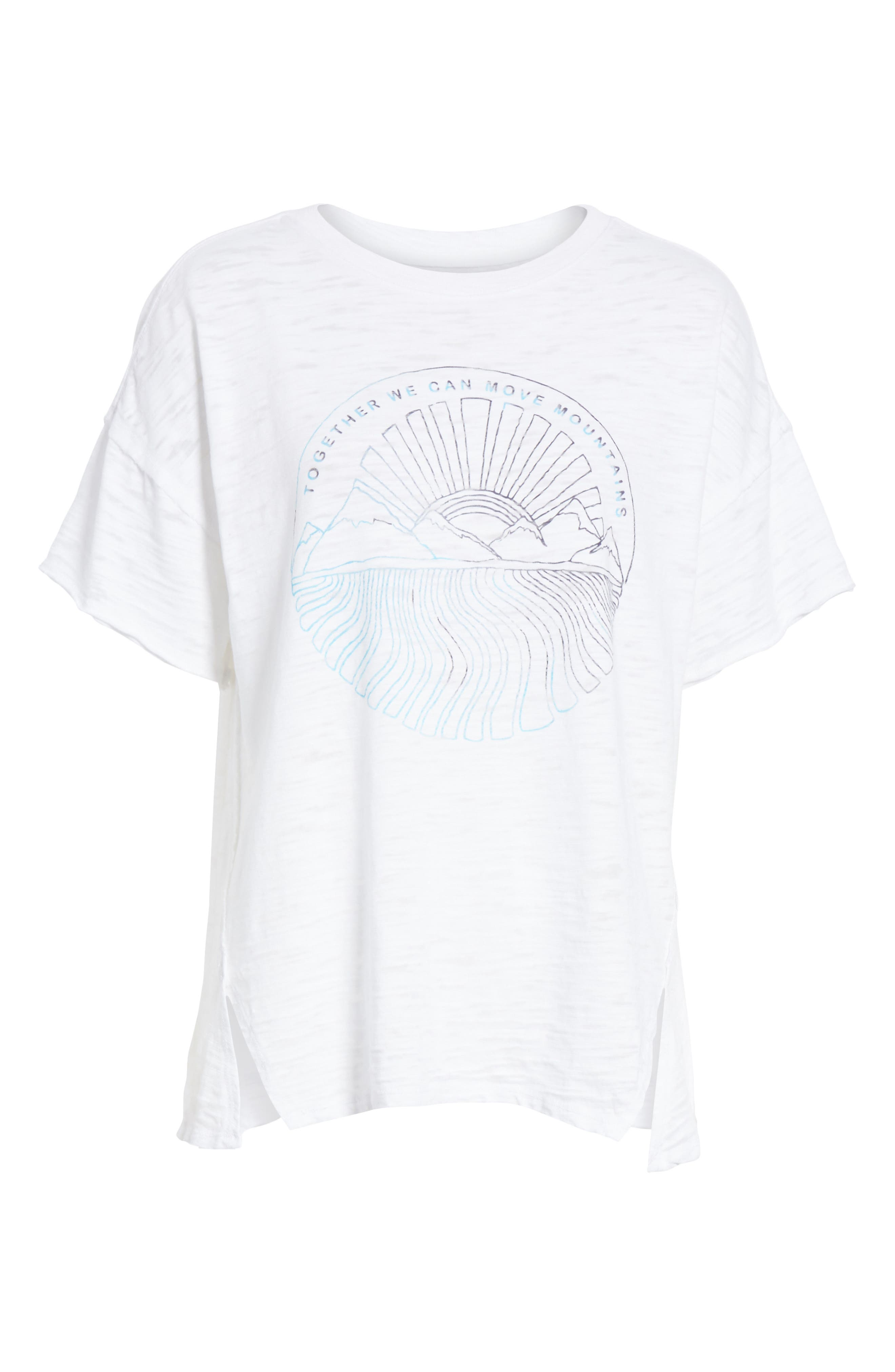 Graphic Tee,                             Alternate thumbnail 6, color,                             White