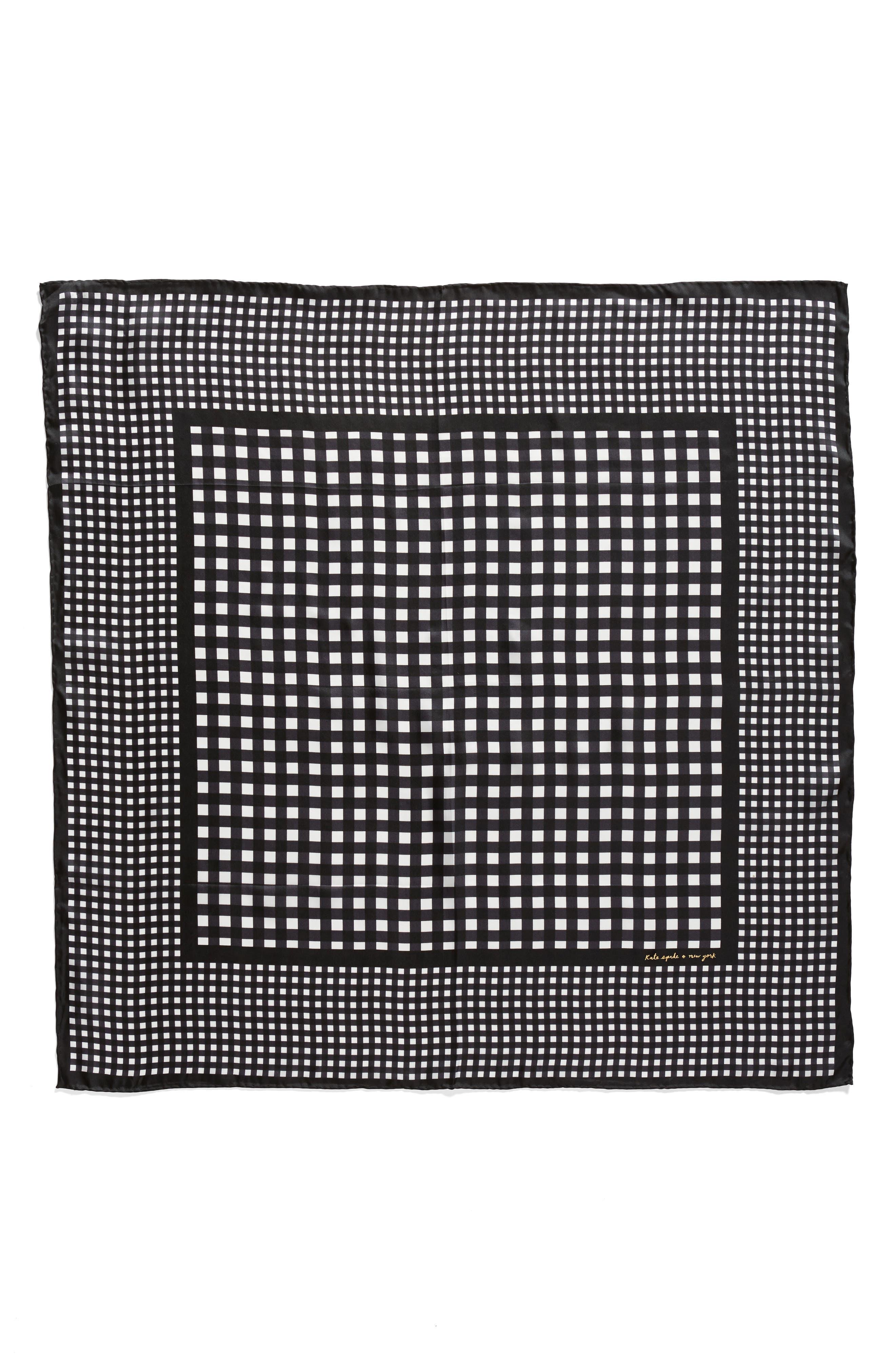 Alternate Image 2  - kate spade new york gingham square silk scarf