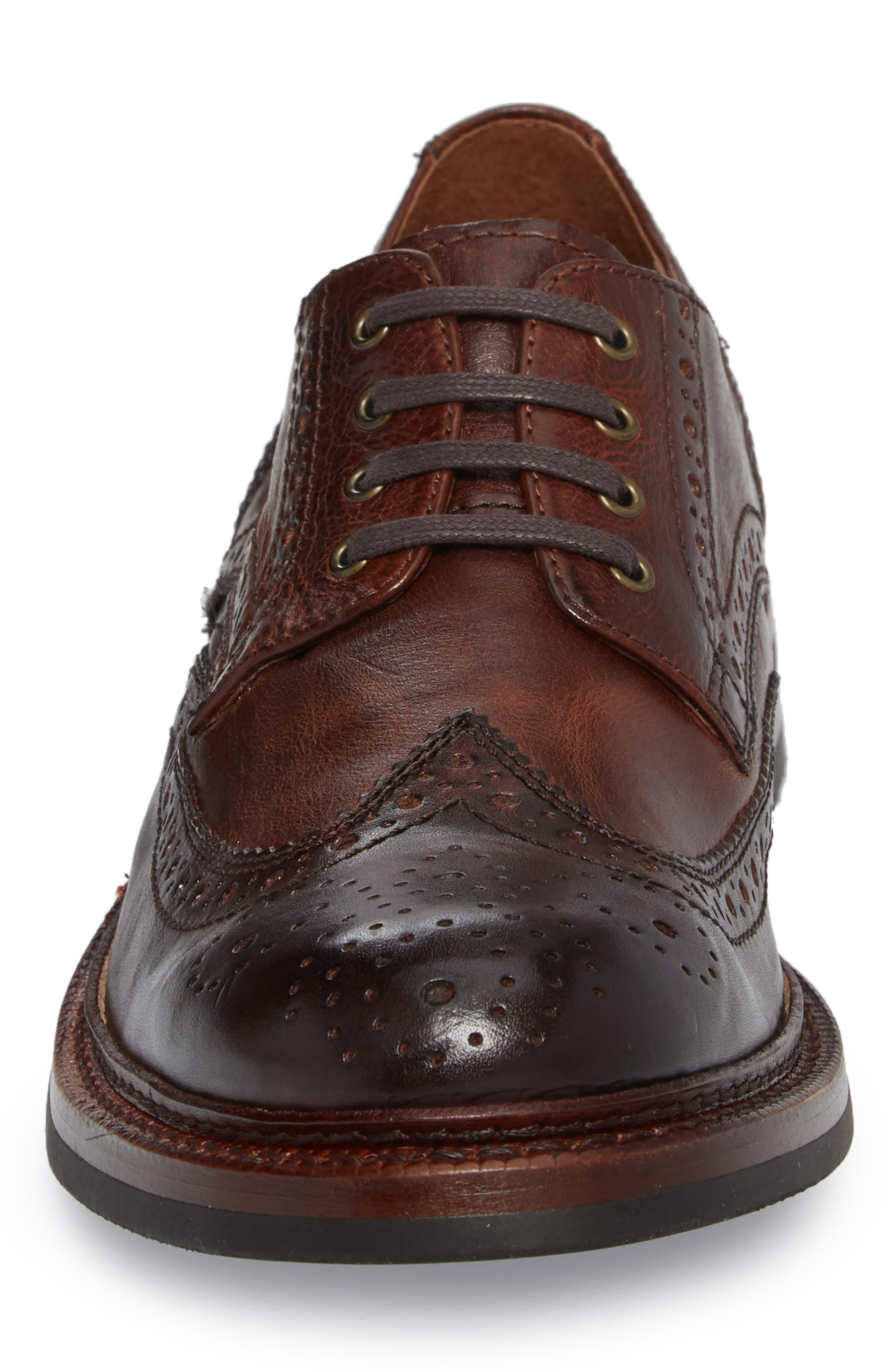 Graham Wingtip,                             Alternate thumbnail 4, color,                             Cognac Leather