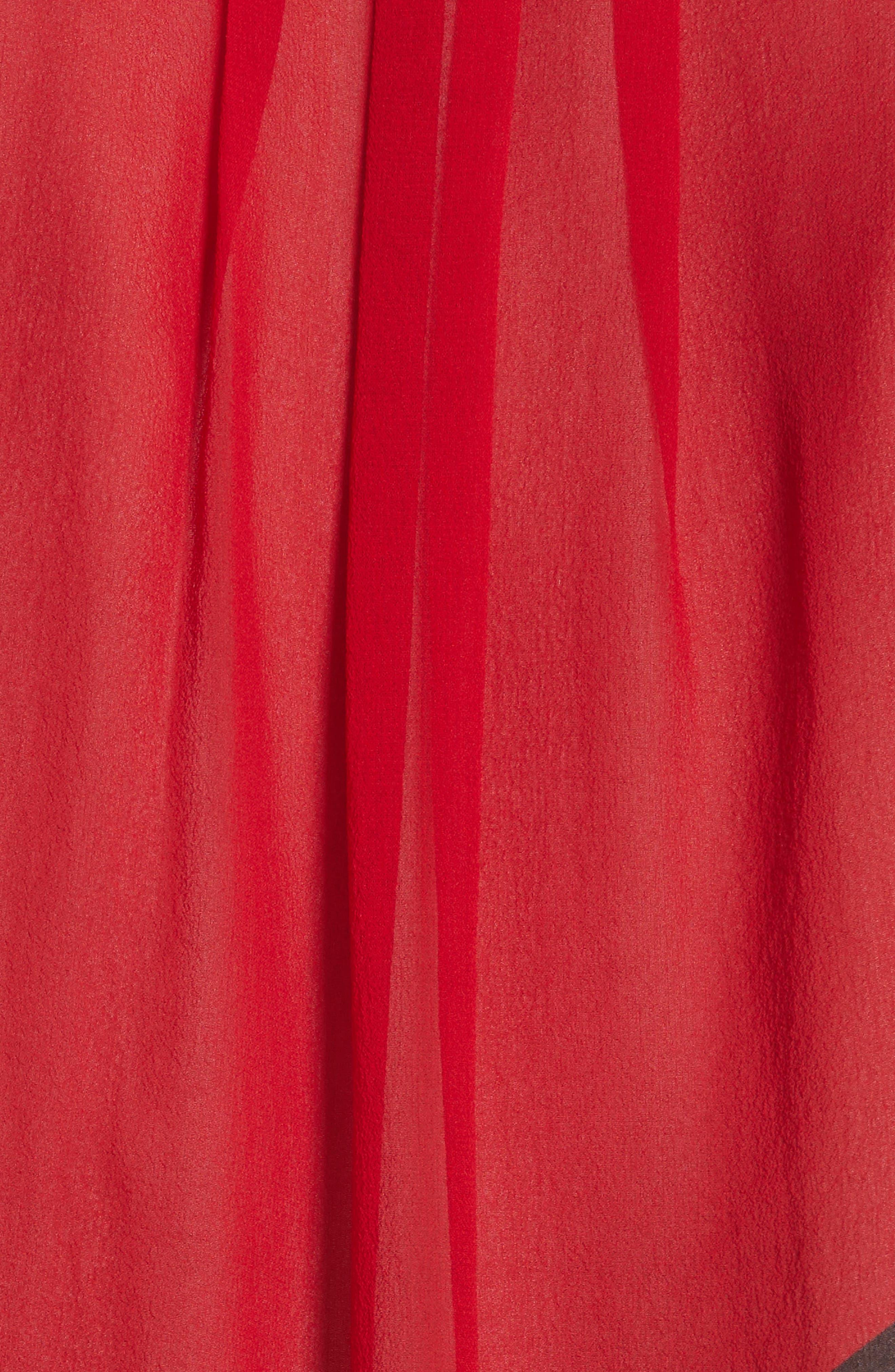 Quinlynn Colorblock Silk Top,                             Alternate thumbnail 5, color,                             Multi