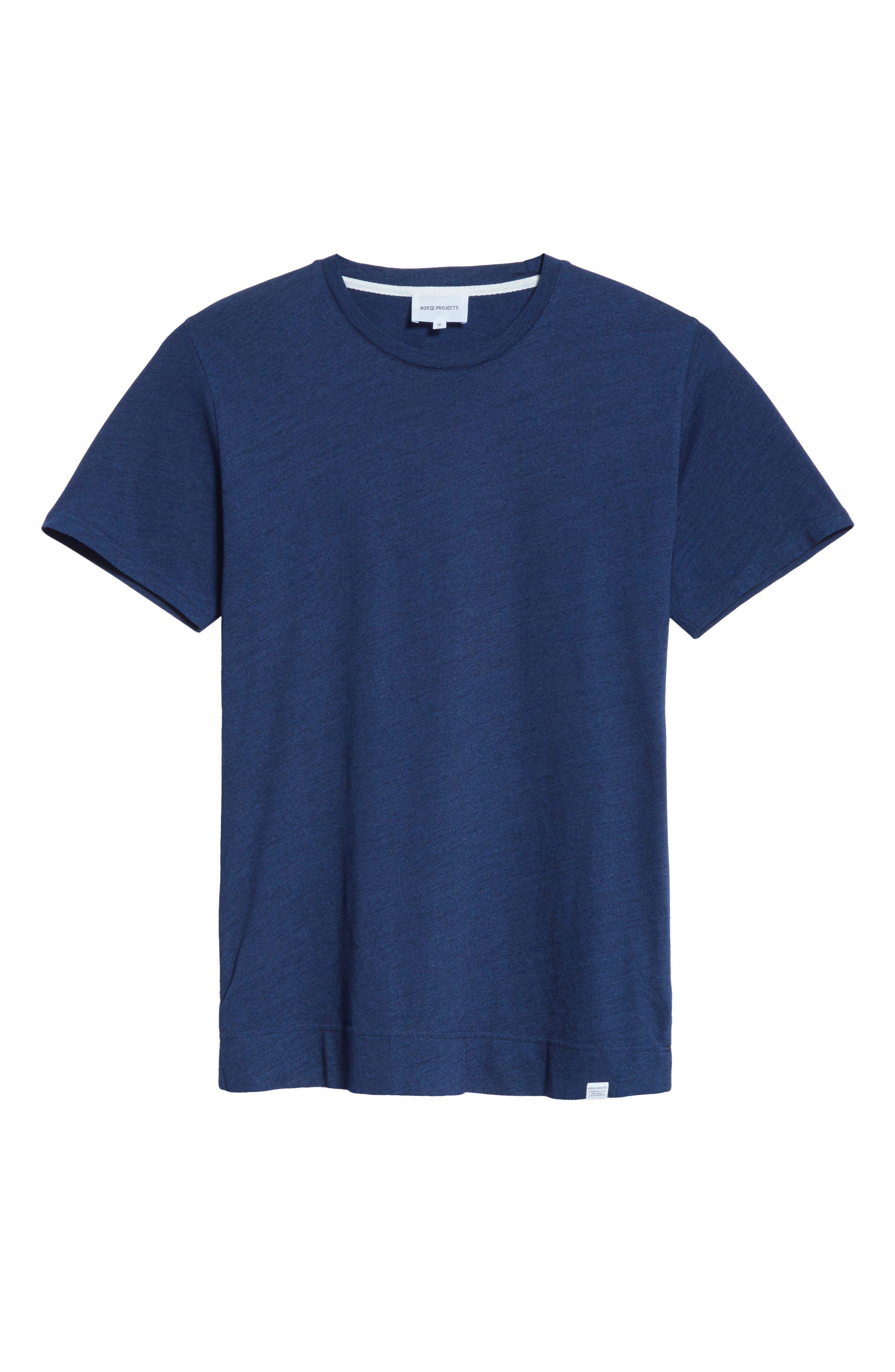 Niels Indigo T-Shirt,                             Alternate thumbnail 6, color,                             Indigo