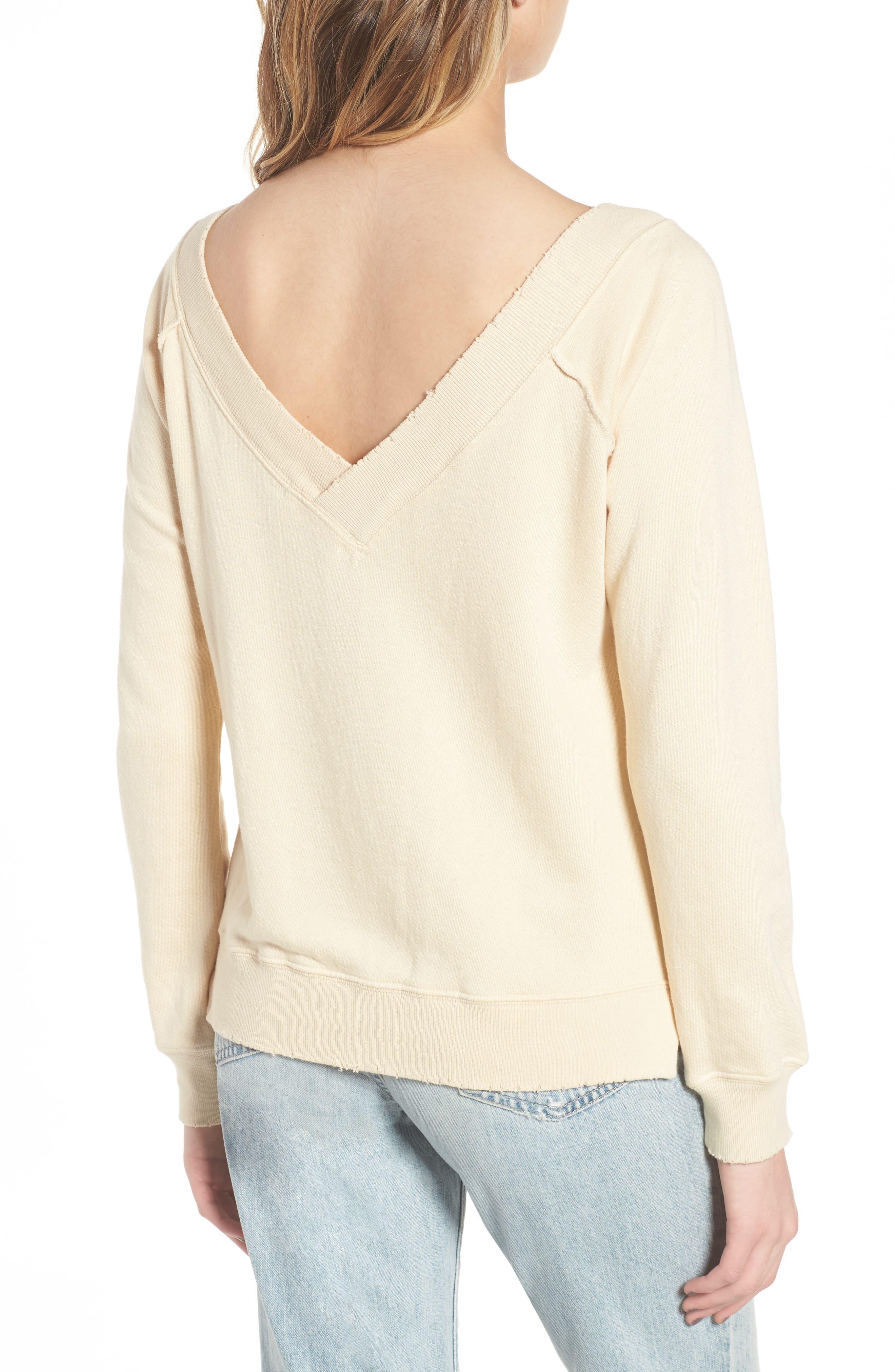 Mayer V-Neck Sweatshirt,                             Alternate thumbnail 2, color,                             Citrus Dust