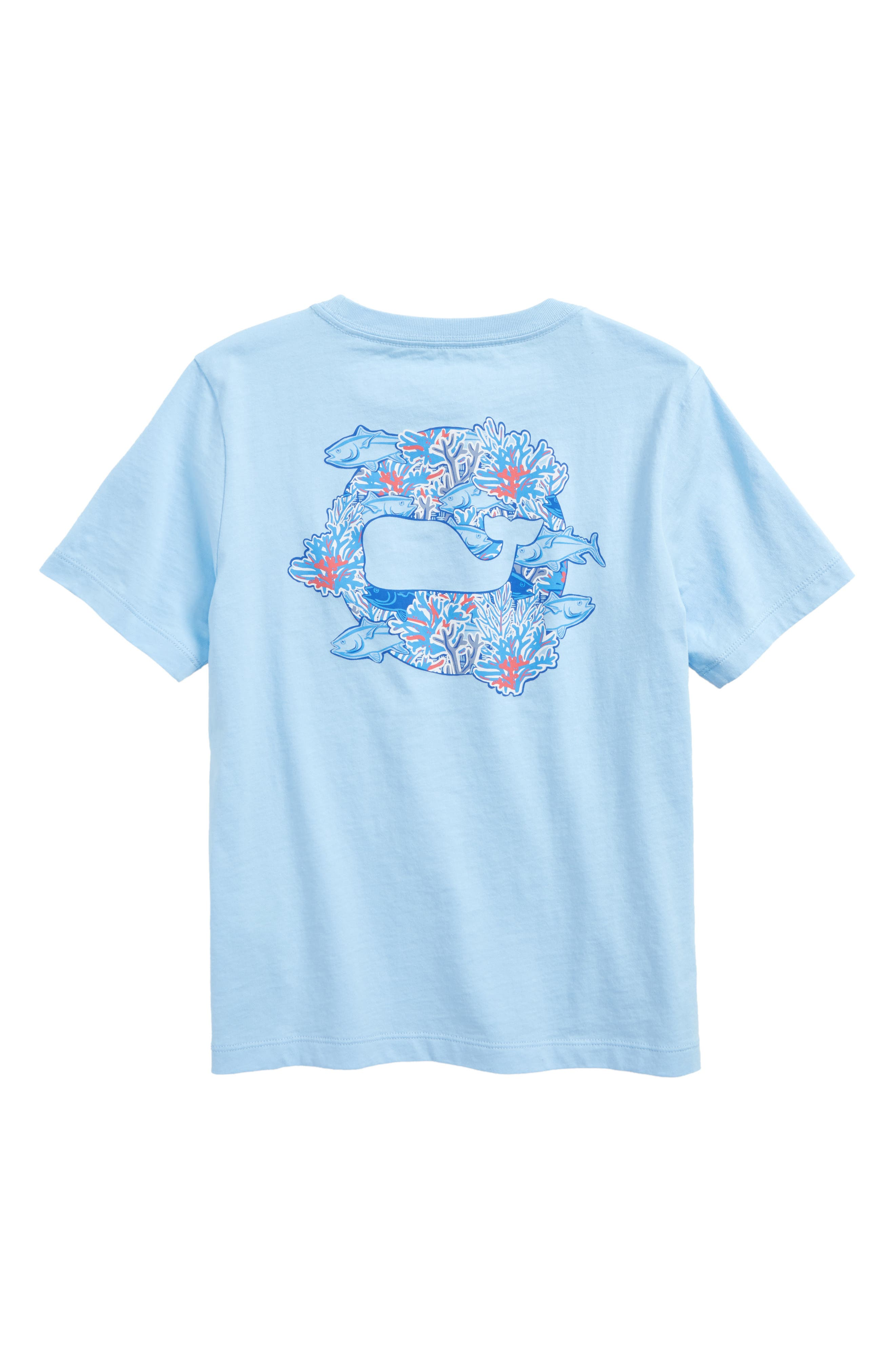 Tuna in Coral Whale Pocket T-Shirt,                             Alternate thumbnail 2, color,                             Jake Blue
