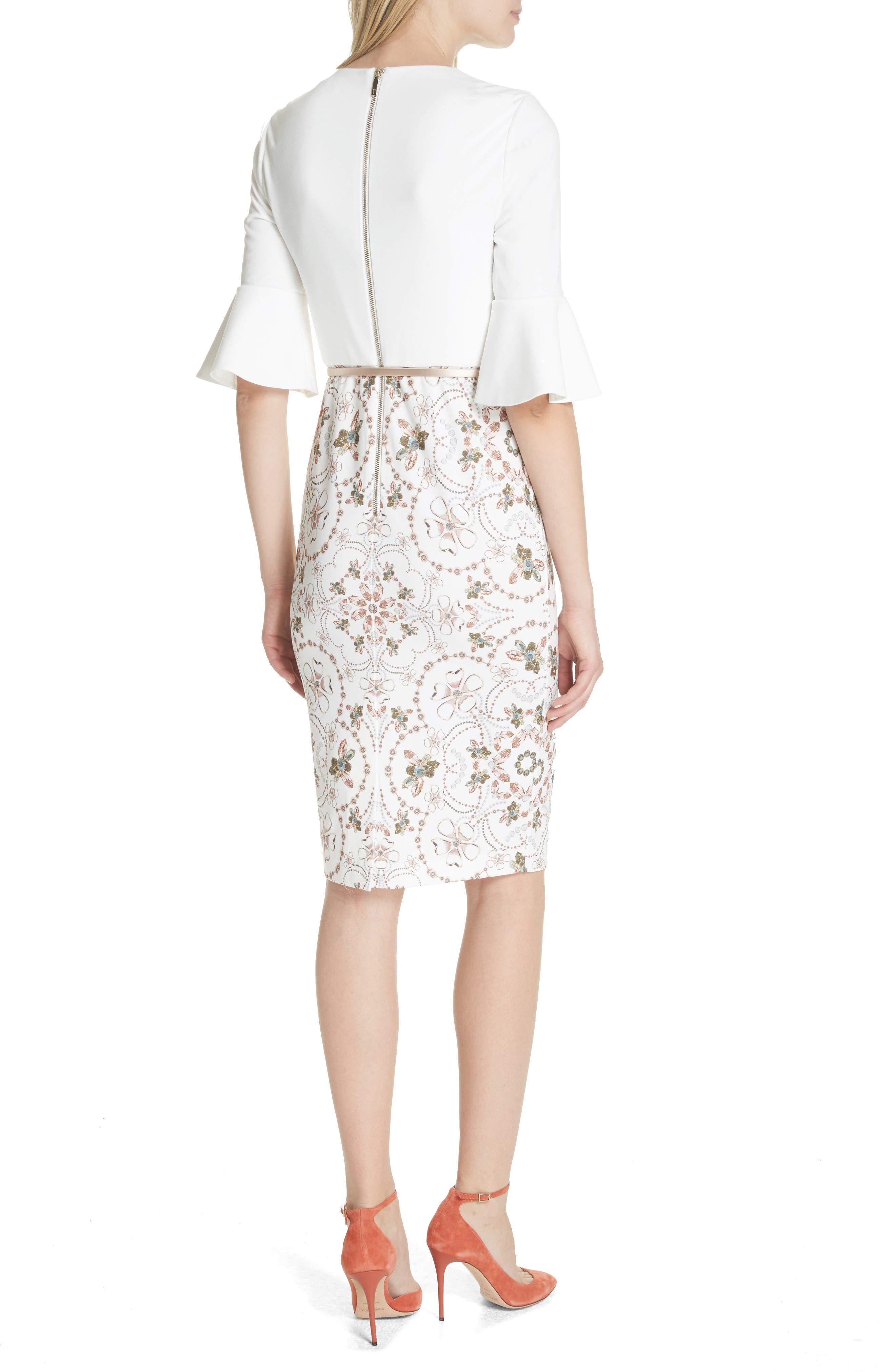 Majestic Contrast Sheath Dress,                             Alternate thumbnail 2, color,                             Ivory