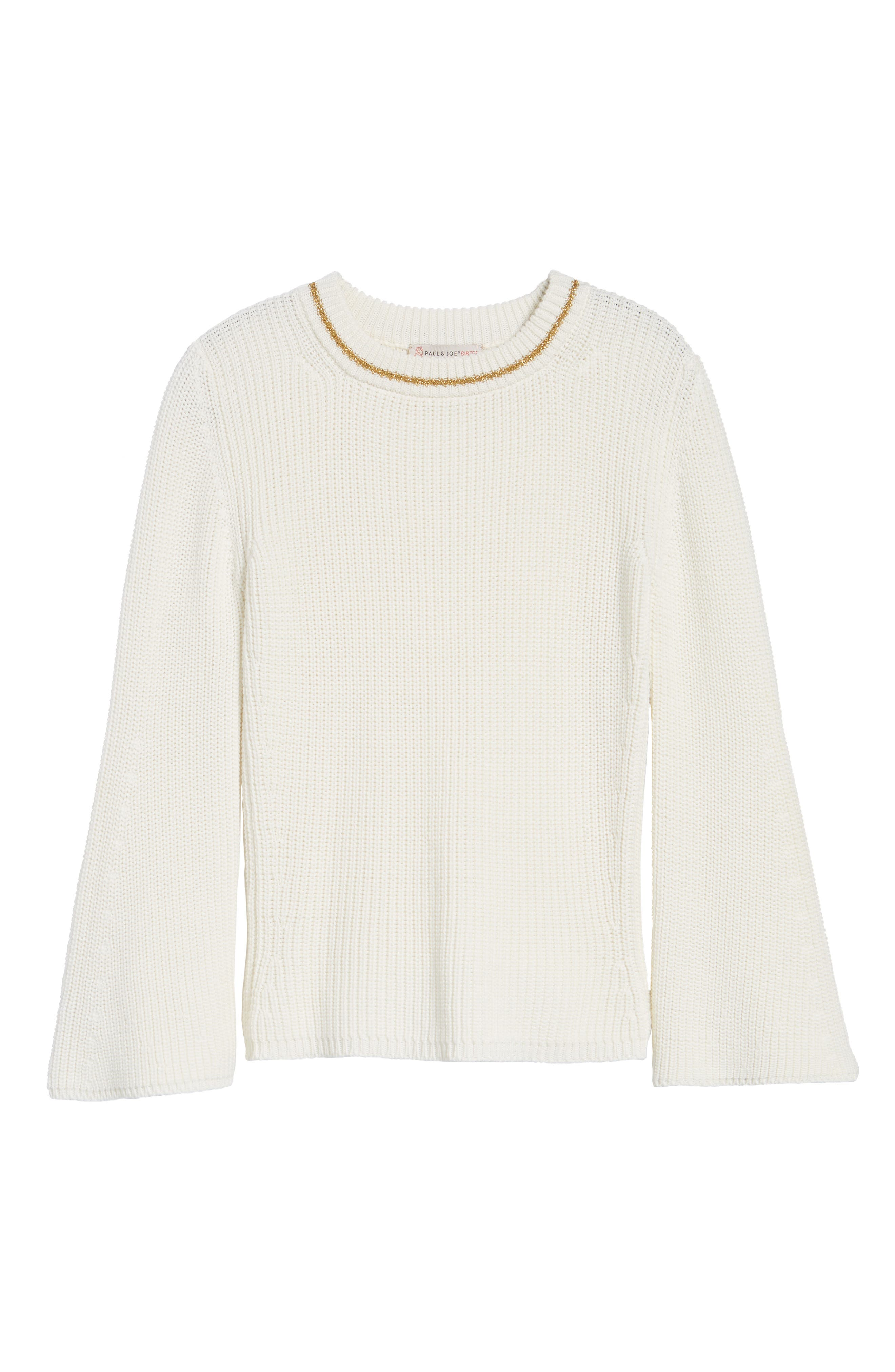 Coco Sweater,                             Alternate thumbnail 6, color,                             White