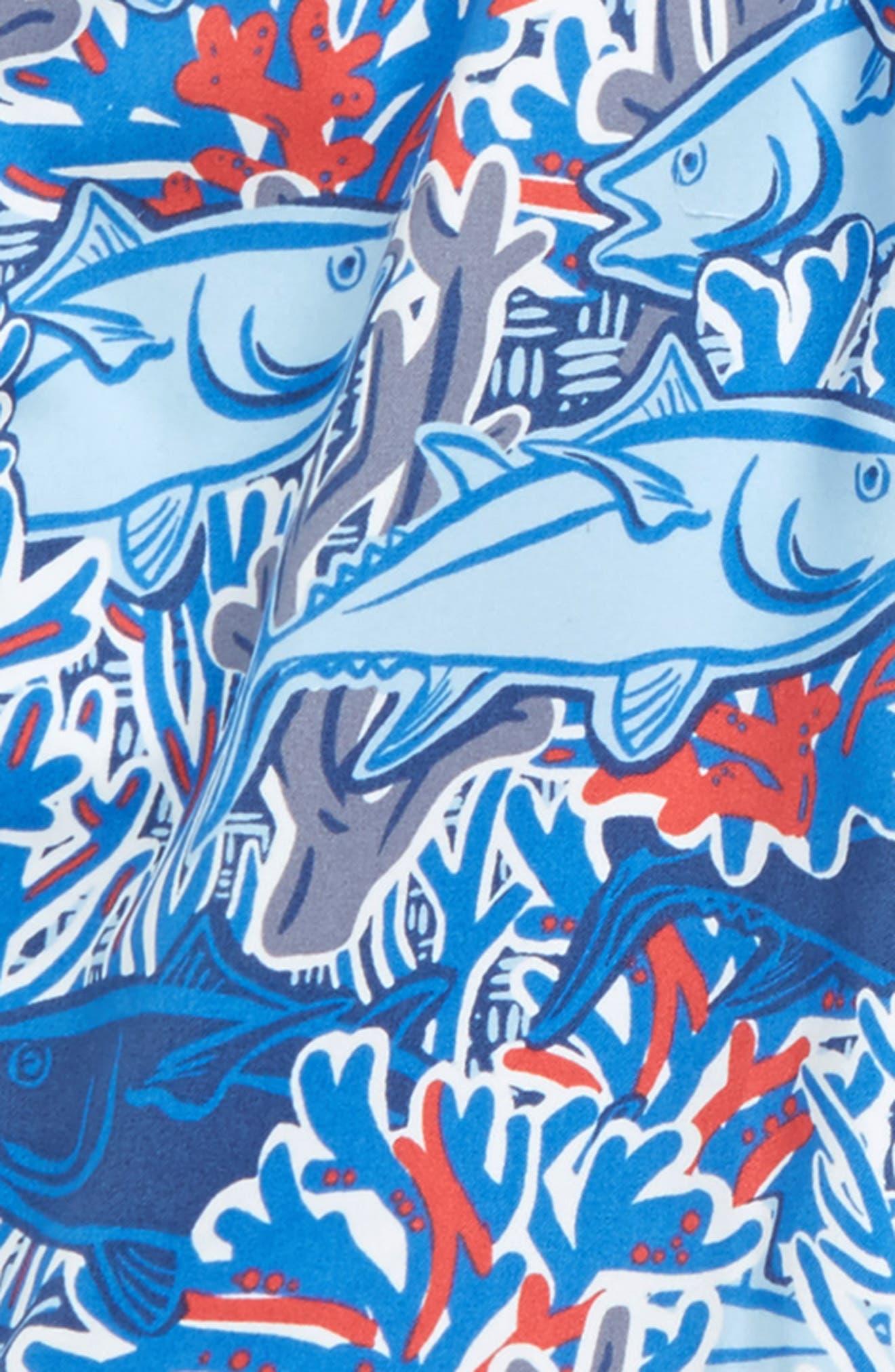 Alternate Image 2  - vineyard vines Chappy Tuna in Coral Swim Trunks (Big Boys)