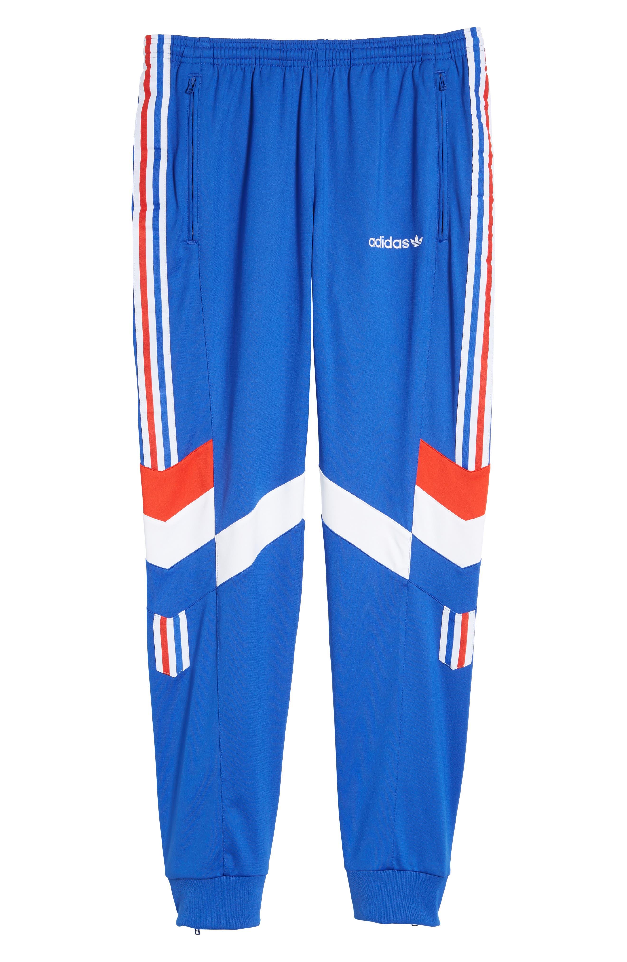 Aloxe Slim Track Pants,                             Alternate thumbnail 7, color,                             Bold Blue/ White