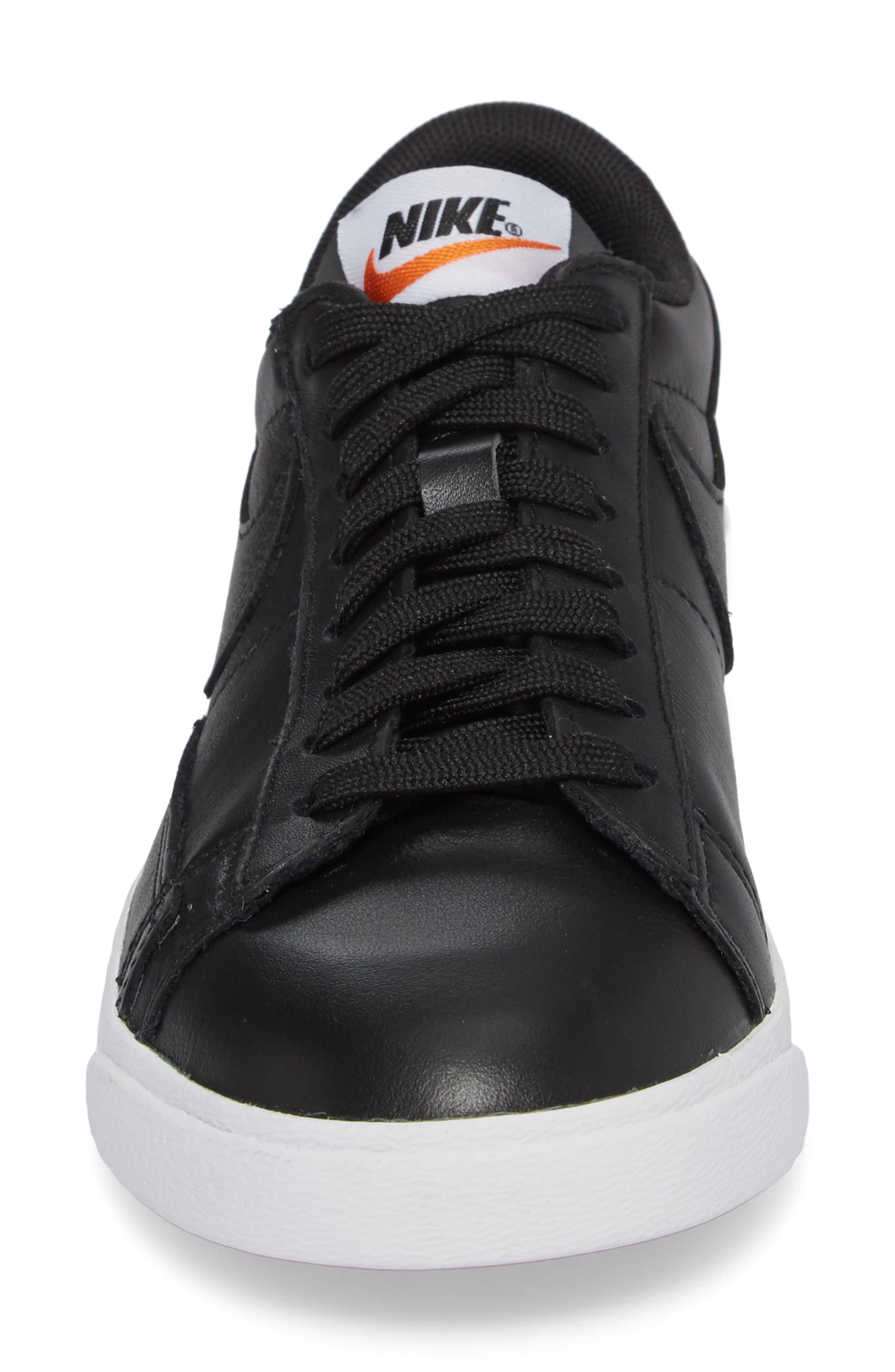 Blazer Low LE Basketball Shoe,                             Alternate thumbnail 4, color,                             Black/ Black/ White