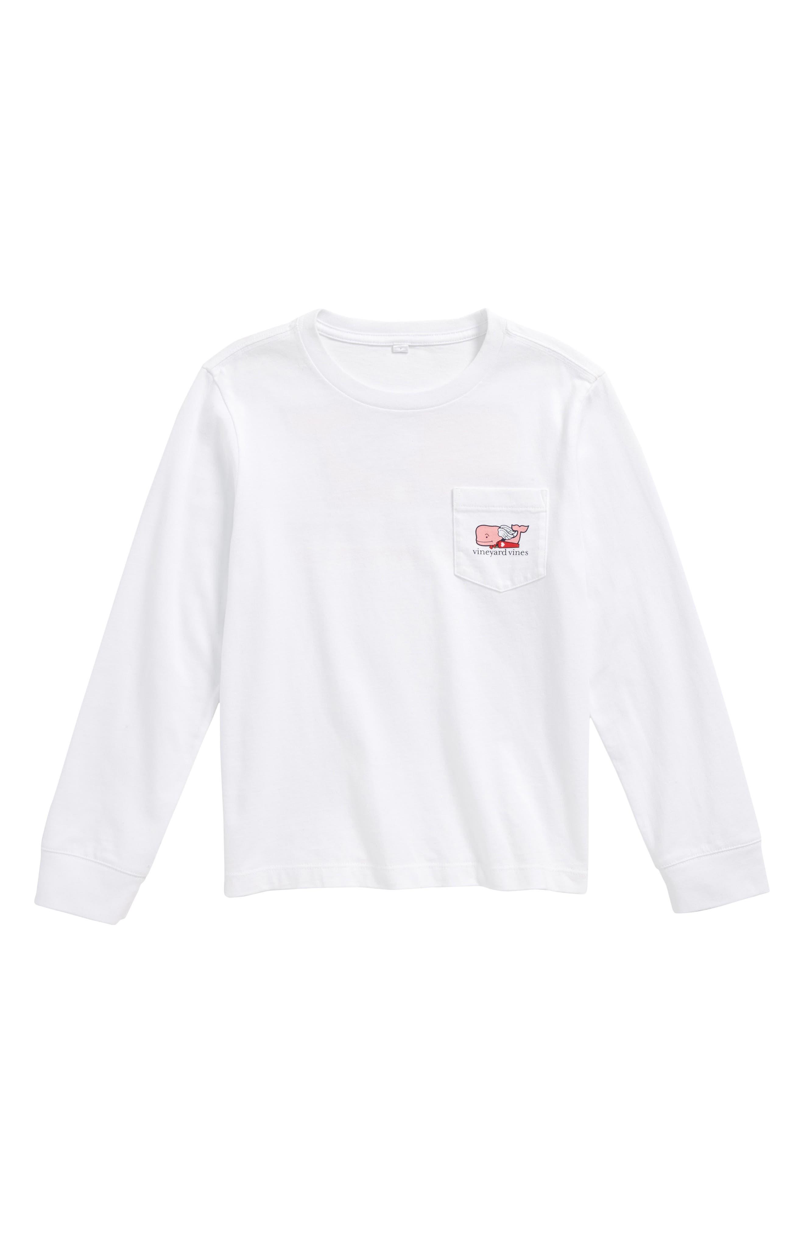 Cupid Whale Pocket T-Shirt,                         Main,                         color, White Cap