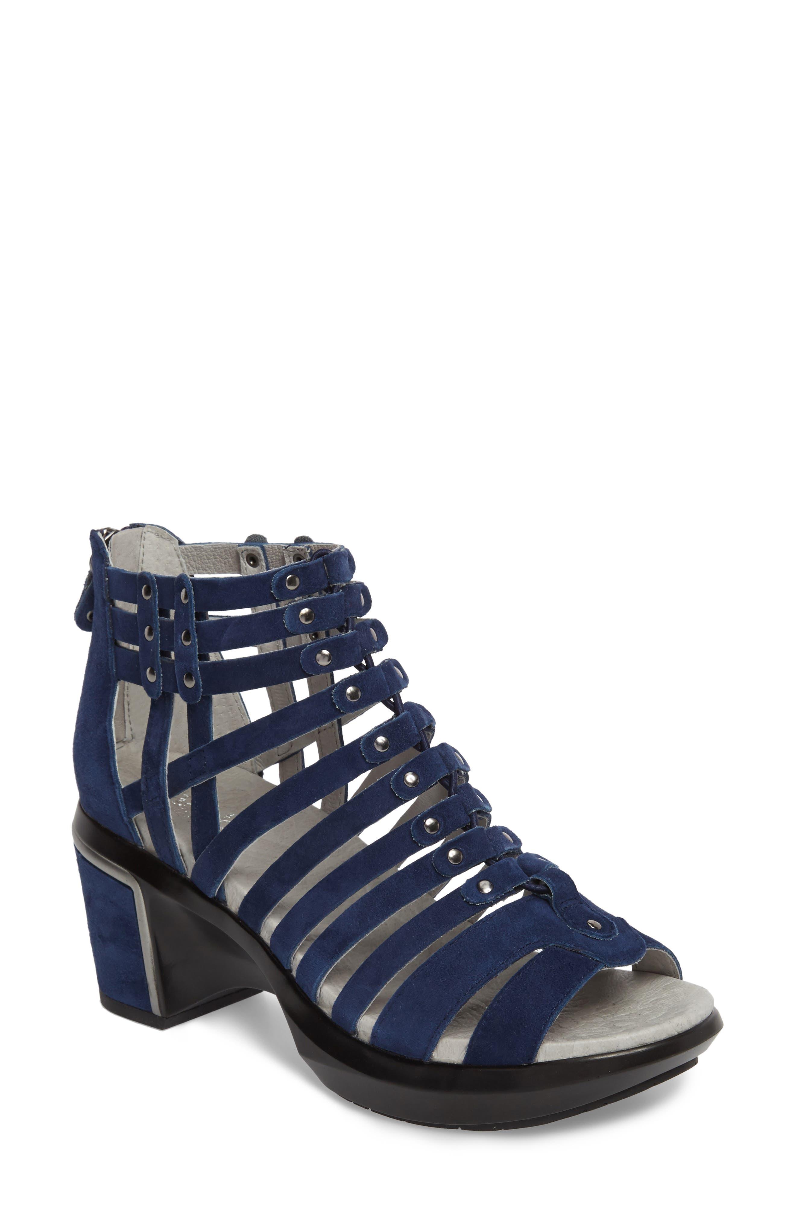 Sugar Too Gladiator Sandal,                         Main,                         color, Navy Suede