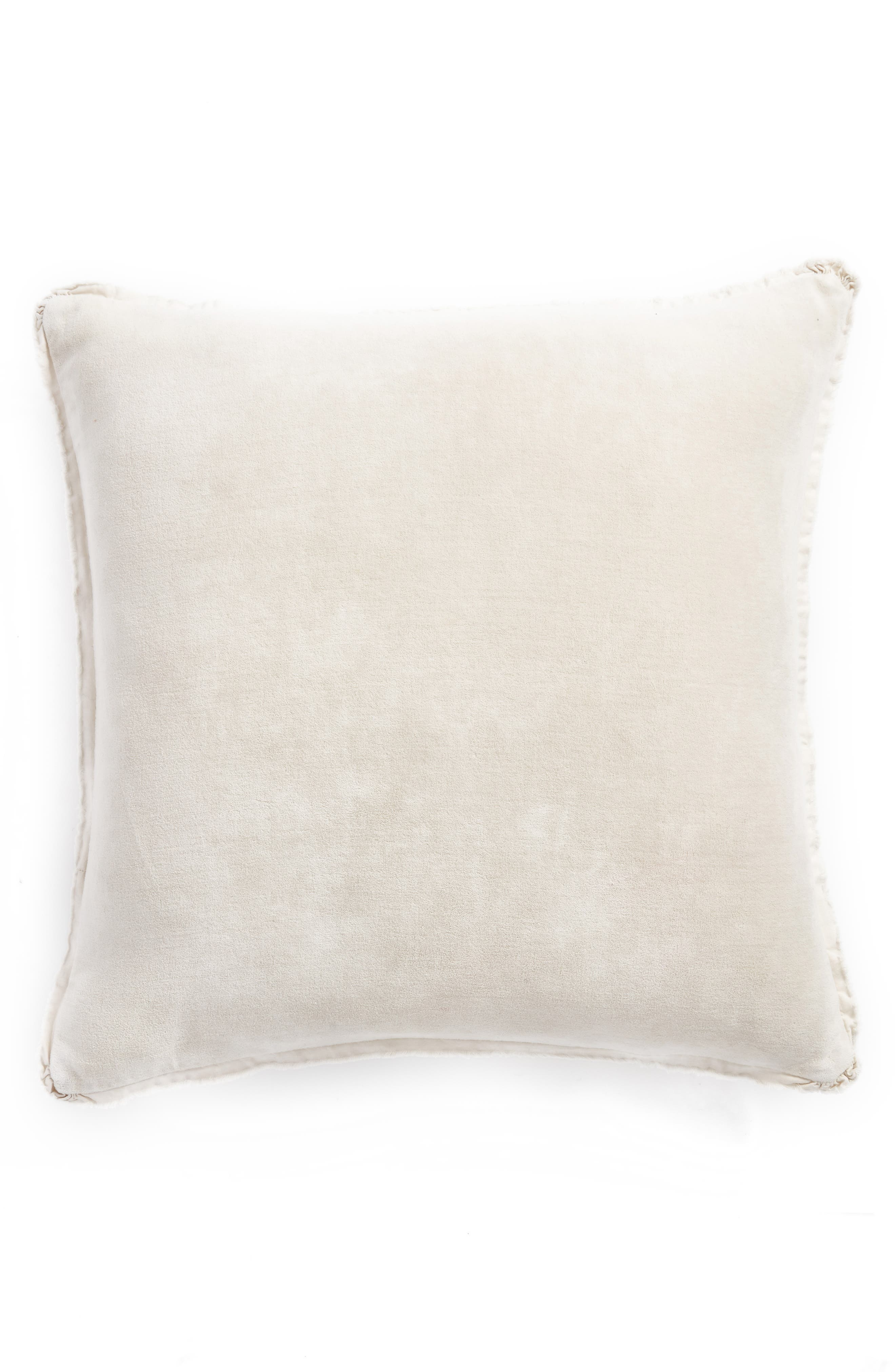 Stonewash Velvet Accent Pillow,                         Main,                         color, Grey Chime