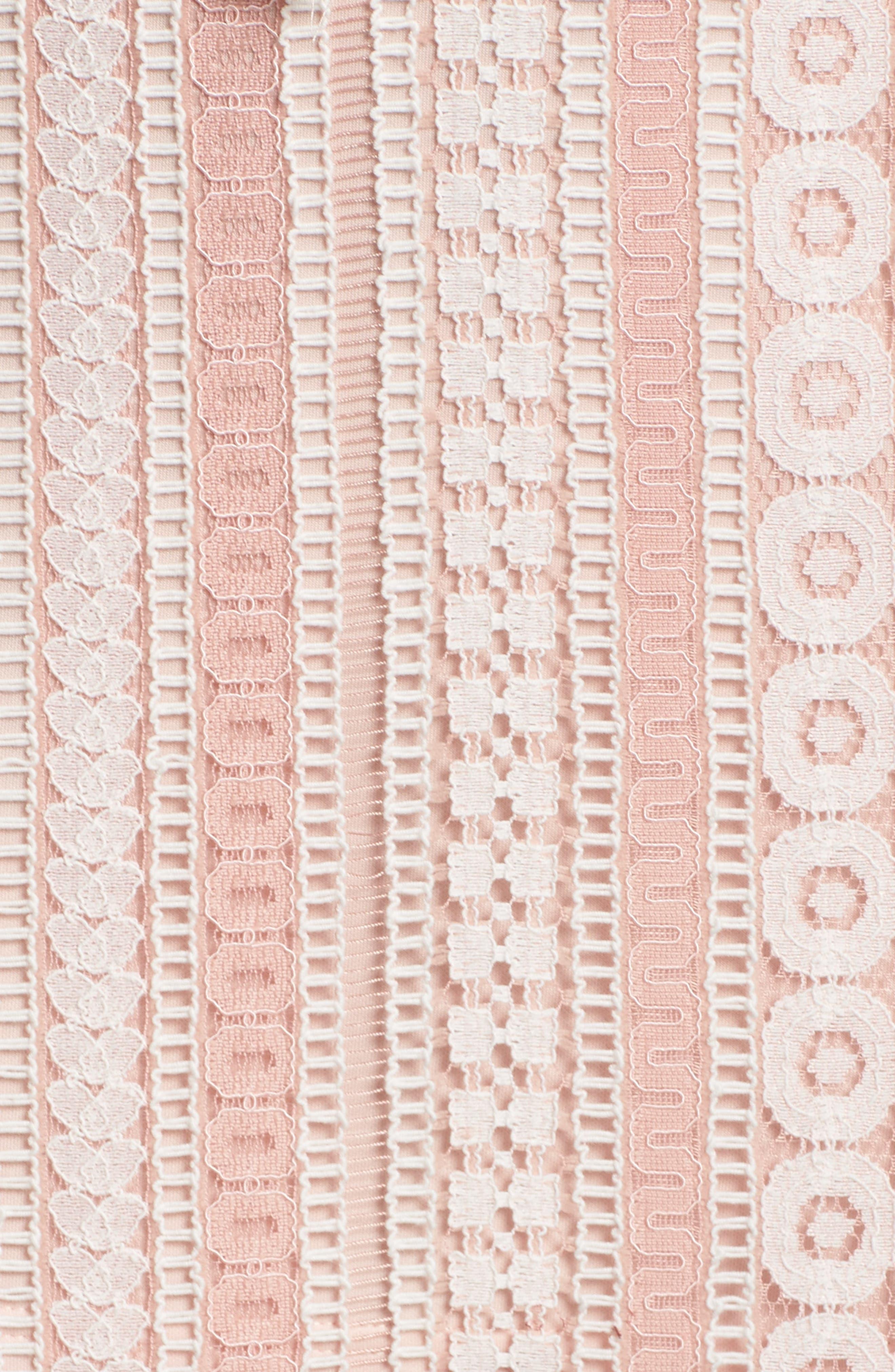 Clarinda Lace Midi Dress,                             Alternate thumbnail 5, color,                             Pink