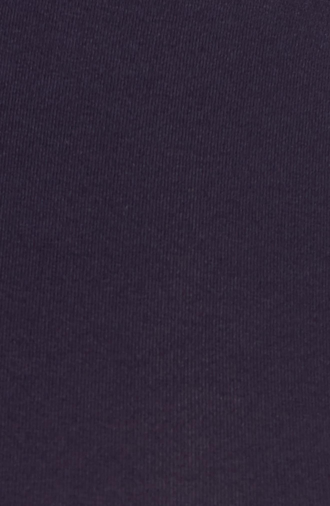 'Poppy' Ruched Surplice Maternity Top,                             Alternate thumbnail 5, color,                             Darkest Navy