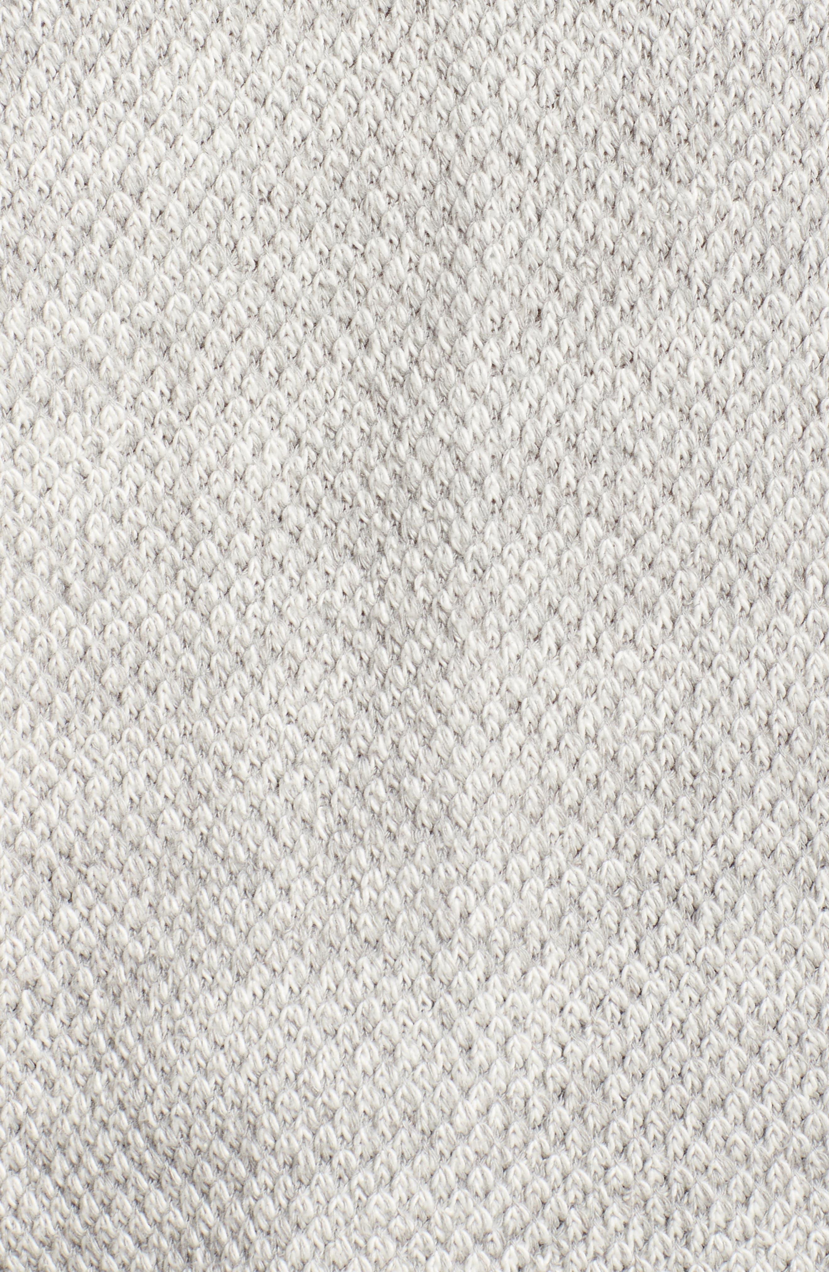 Oversize Turtleneck Sweater,                             Alternate thumbnail 5, color,                             Heather Grey