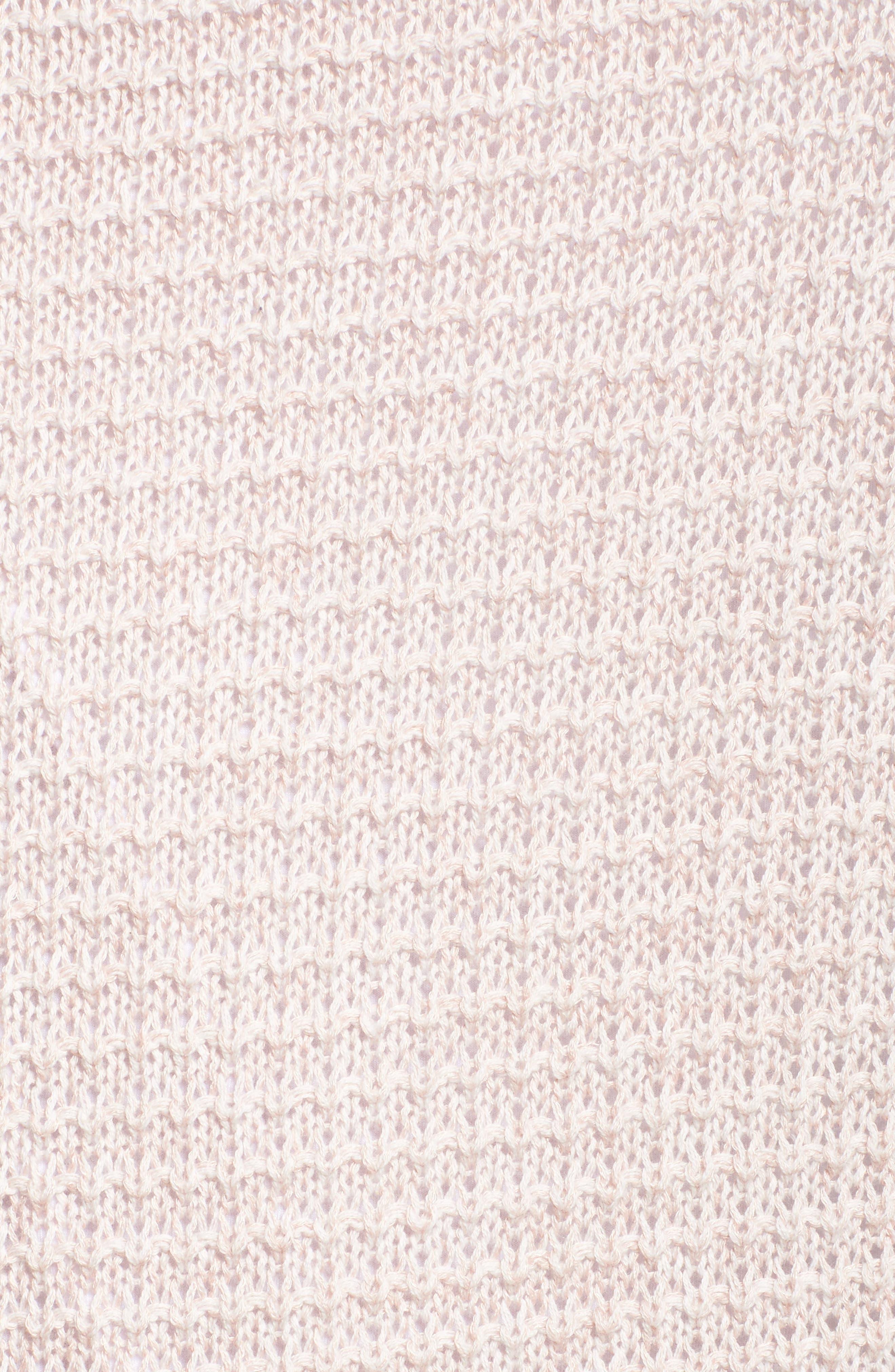 Easy Knit Cardigan,                             Alternate thumbnail 5, color,                             Beige Linen Fern Marl