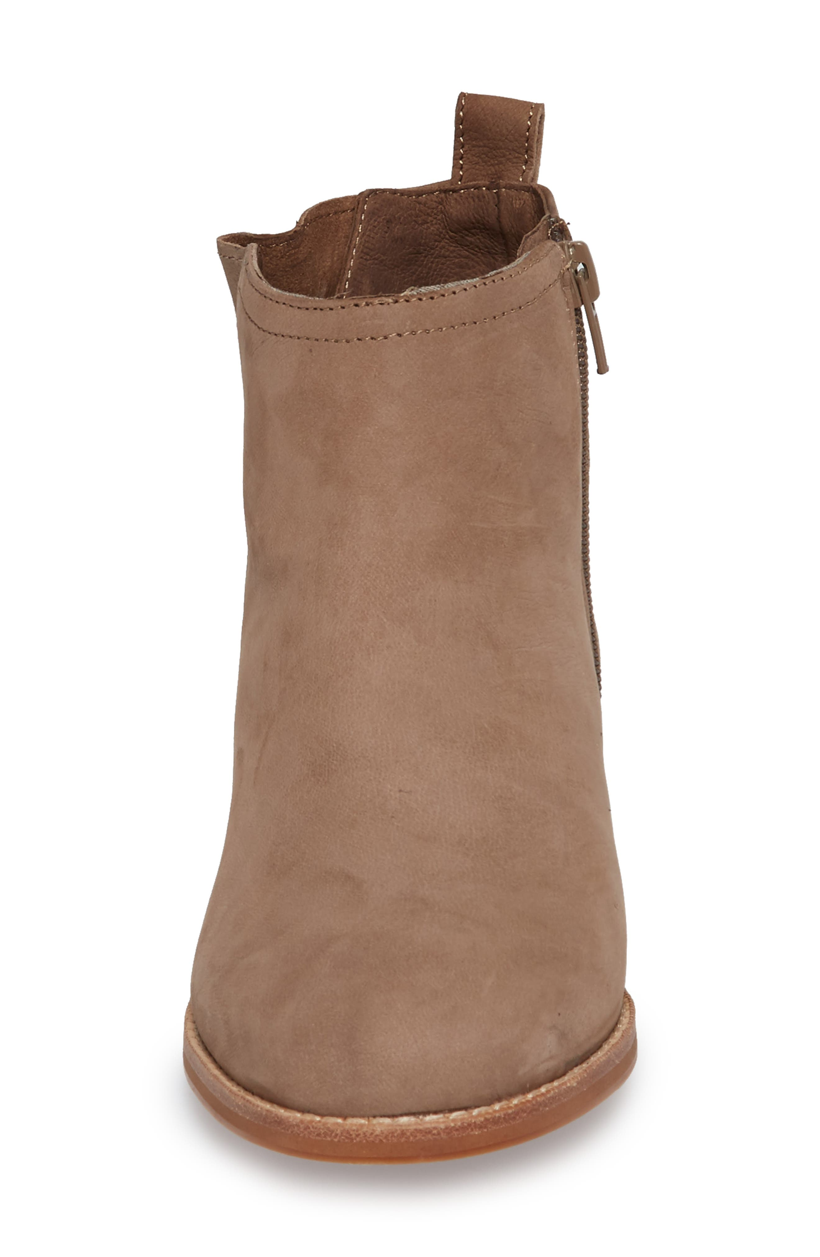 Barbora Gusseted Bootie,                             Alternate thumbnail 4, color,                             Taupe Suede