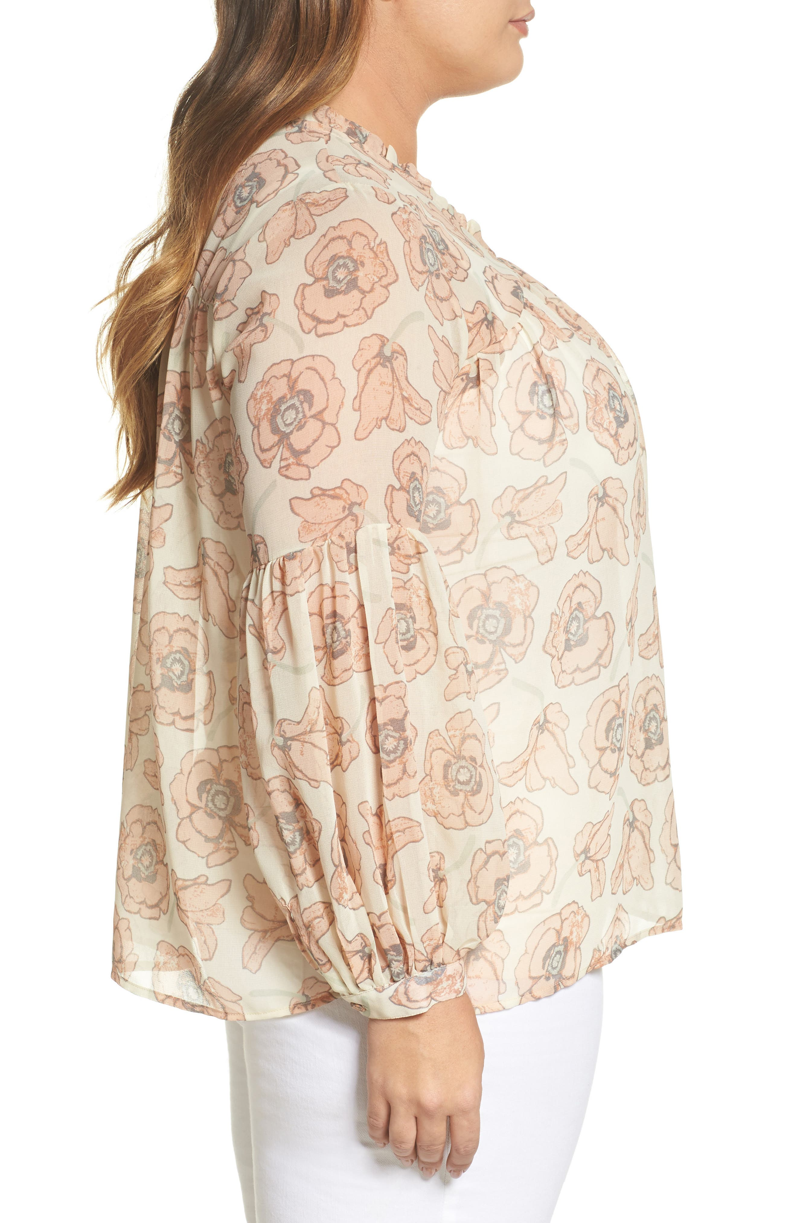 Exploded Floral Top,                             Alternate thumbnail 2, color,                             Pink Multi