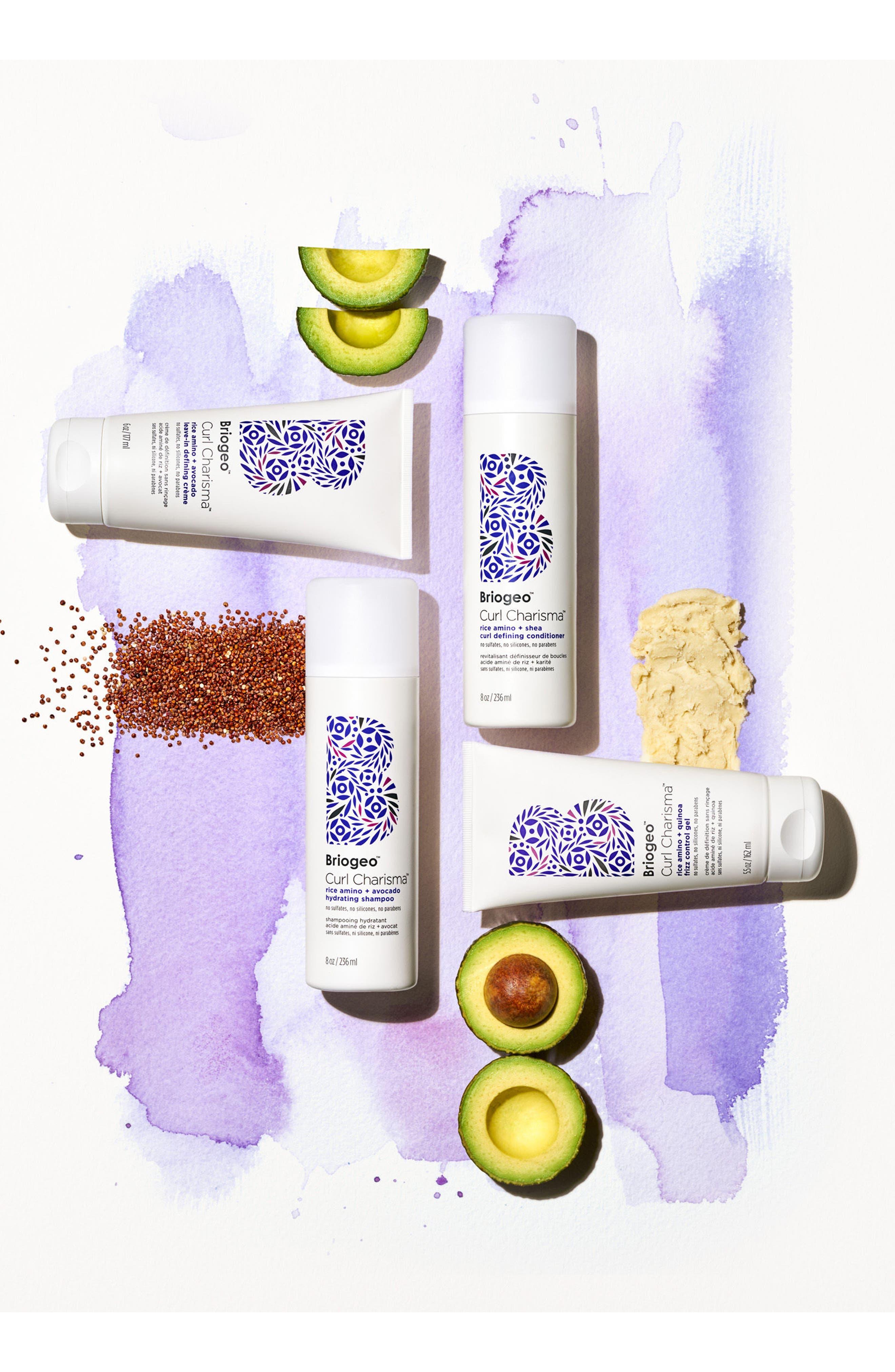 Curl Charisma Rice Amino + Avocado Hydrating Shampoo,                             Alternate thumbnail 5, color,                             No Color