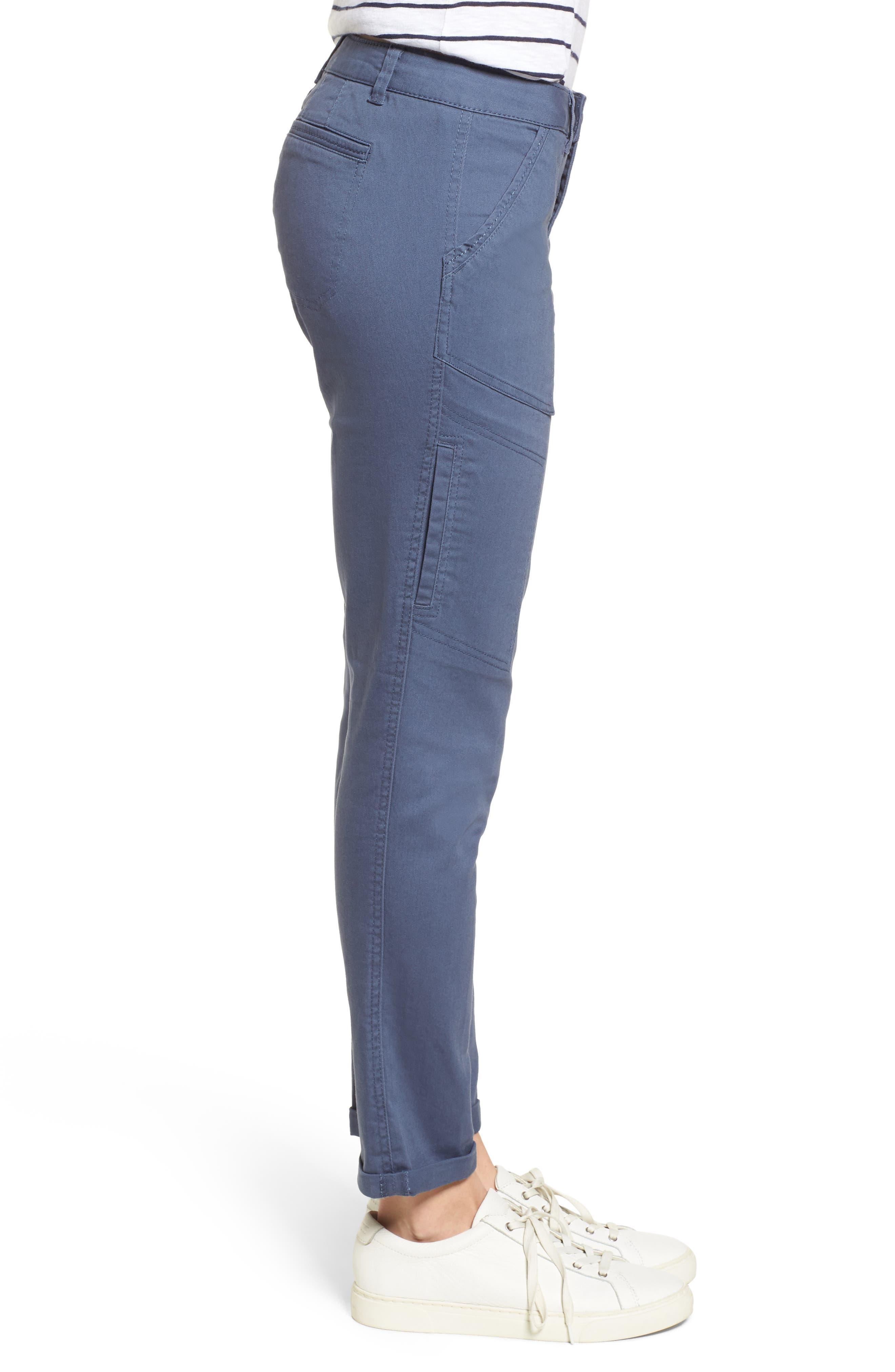 Twill Cargo Pants,                             Alternate thumbnail 3, color,                             Slate Blue