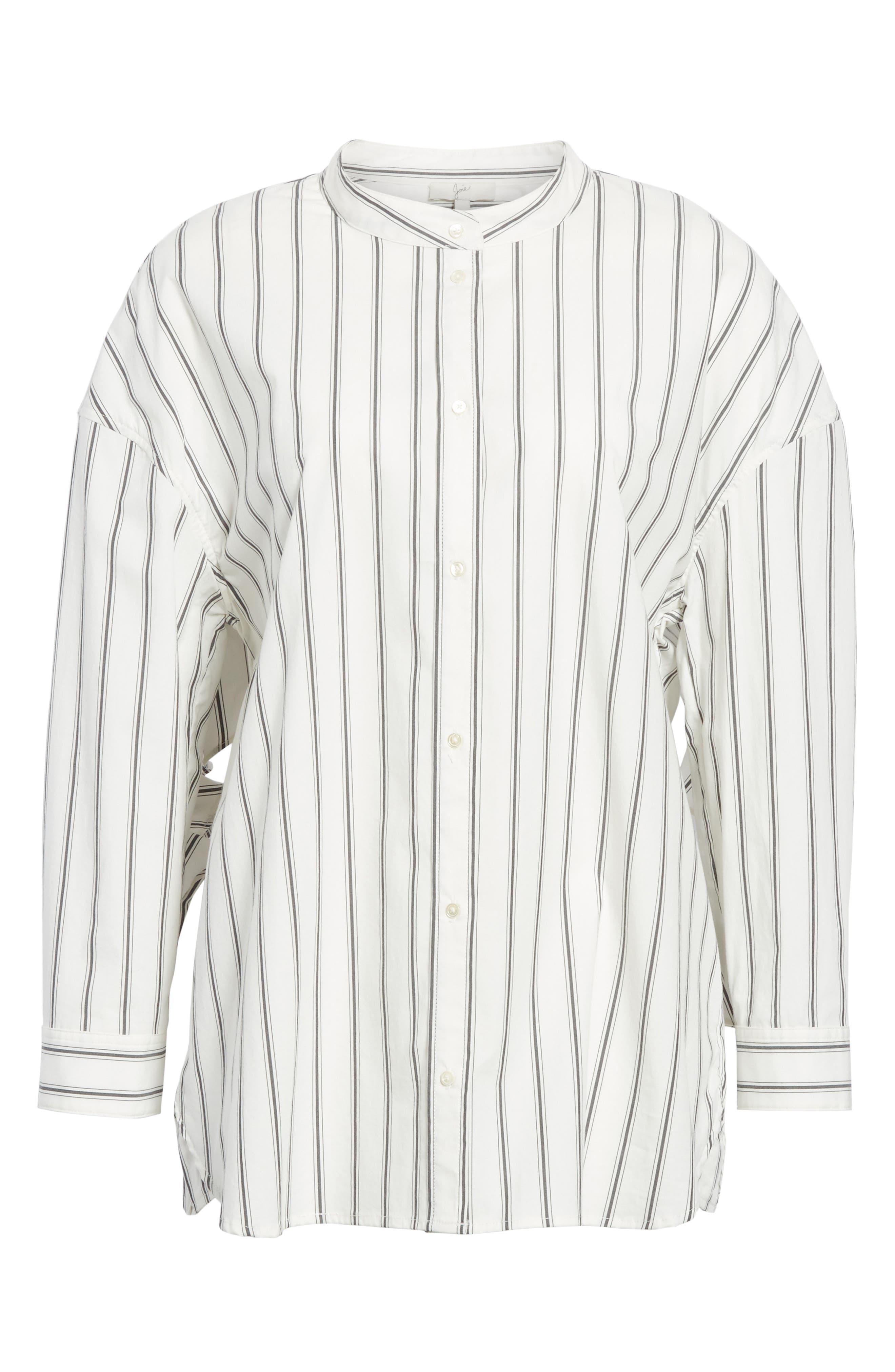 Poni Stripe Shirt,                             Alternate thumbnail 6, color,                             Porcelain