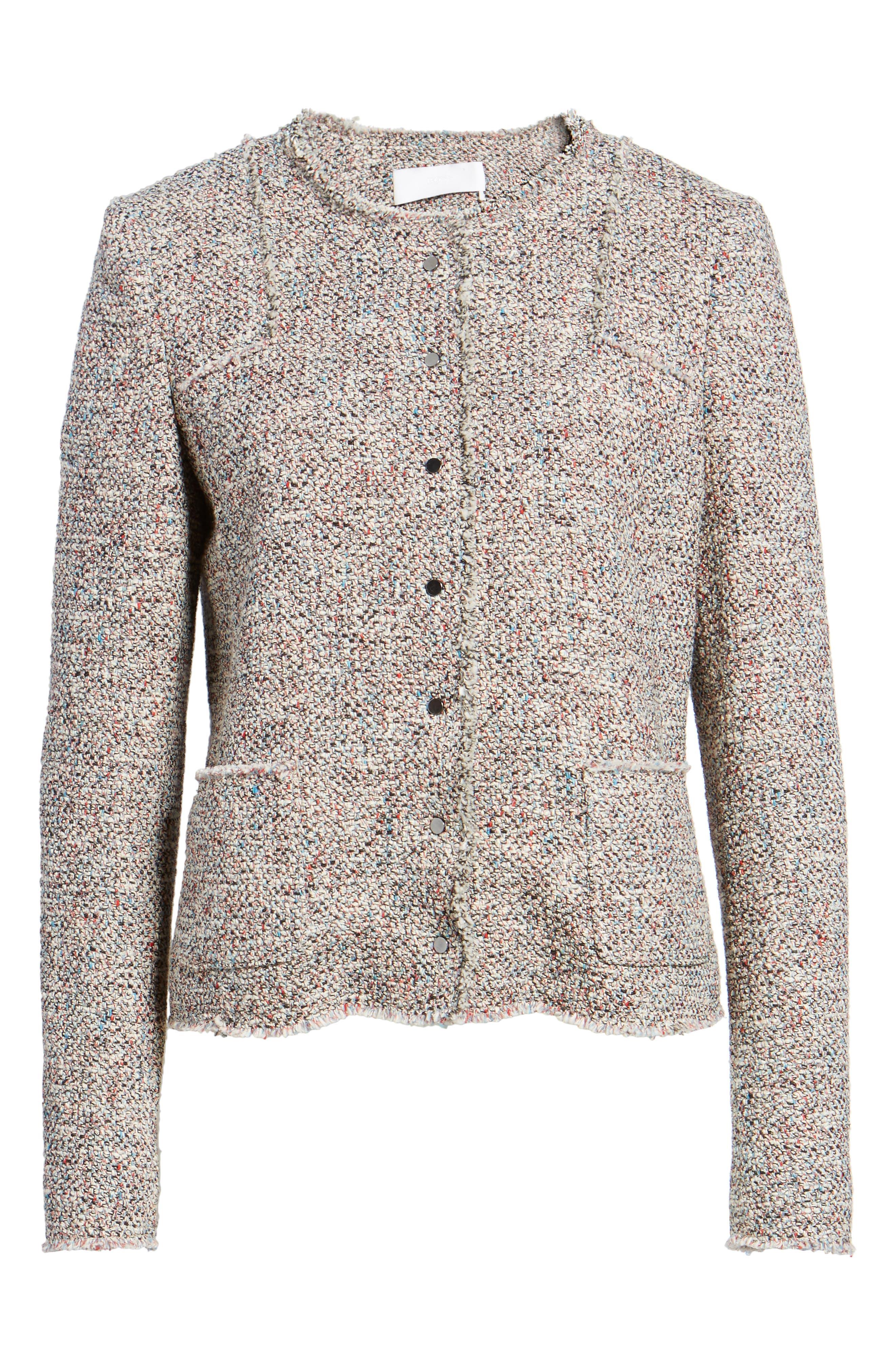 Alternate Image 6  - BOSS Koralie Tweed Jacket (Regular & Petite)
