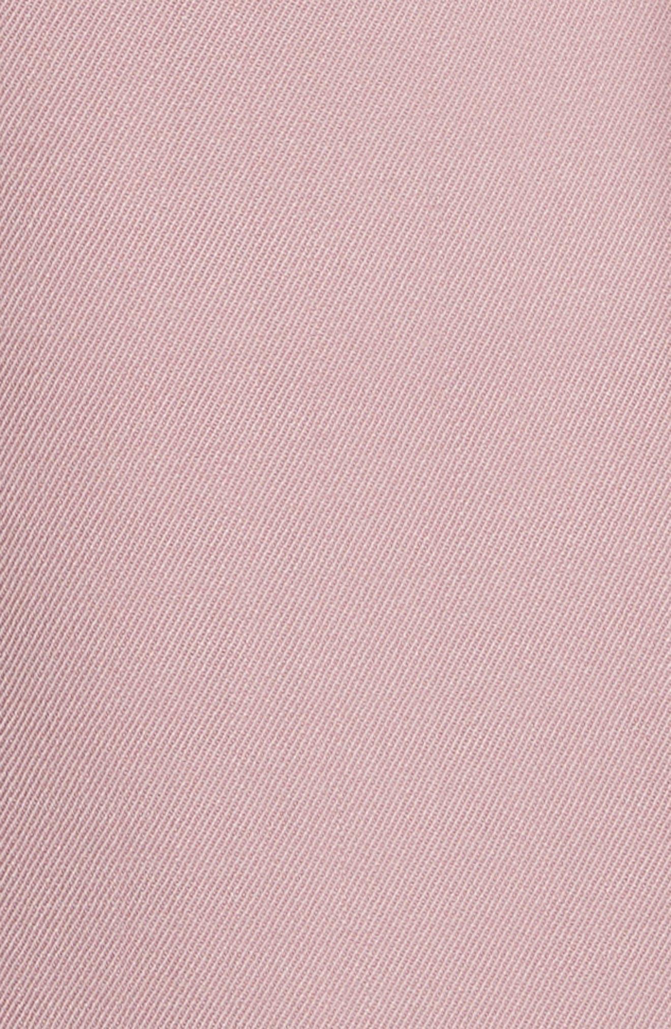 Ruffle Trim Jacket,                             Alternate thumbnail 6, color,                             Dusty Rose