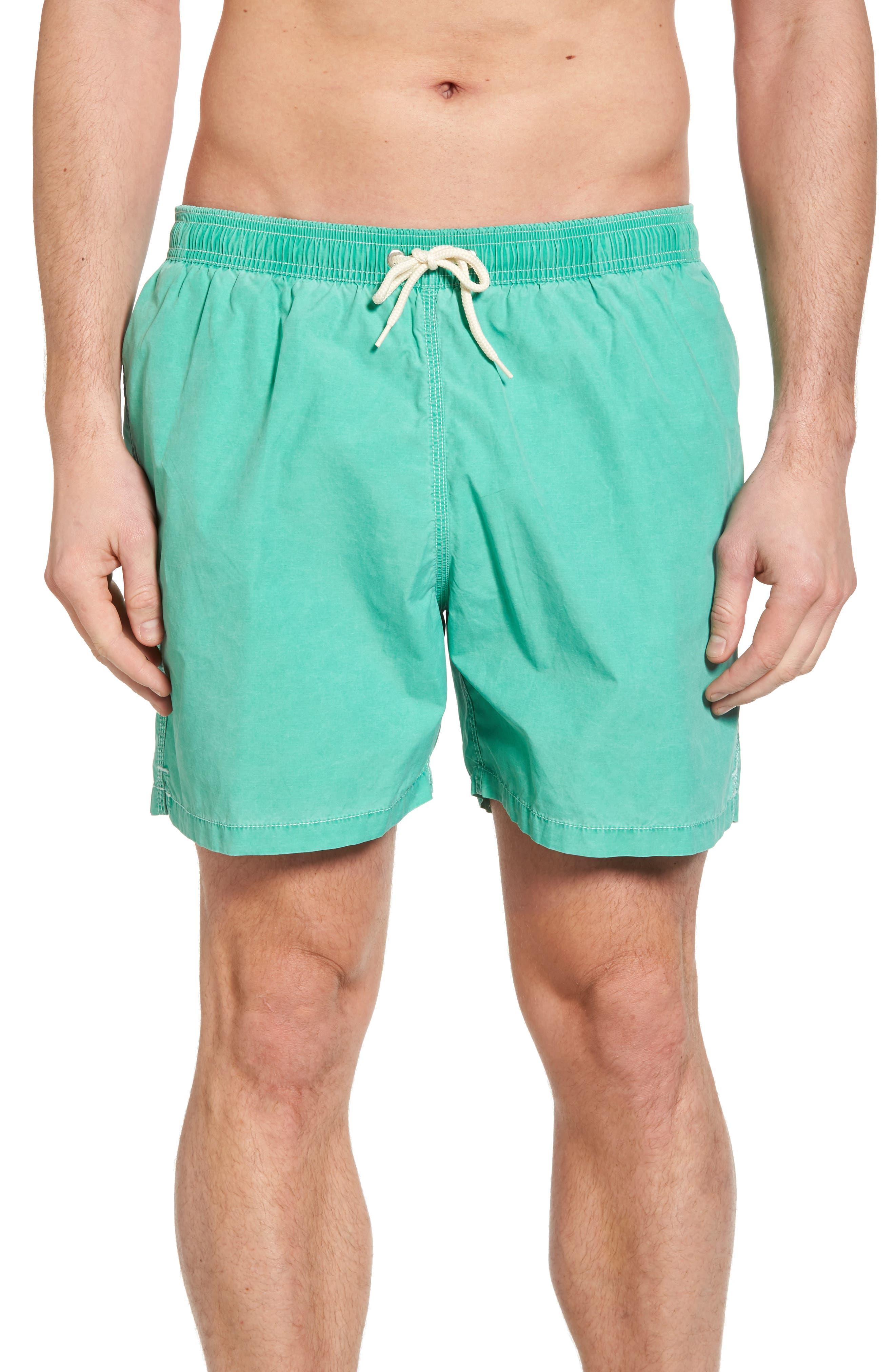 Victor Swim Trunks,                         Main,                         color, Green