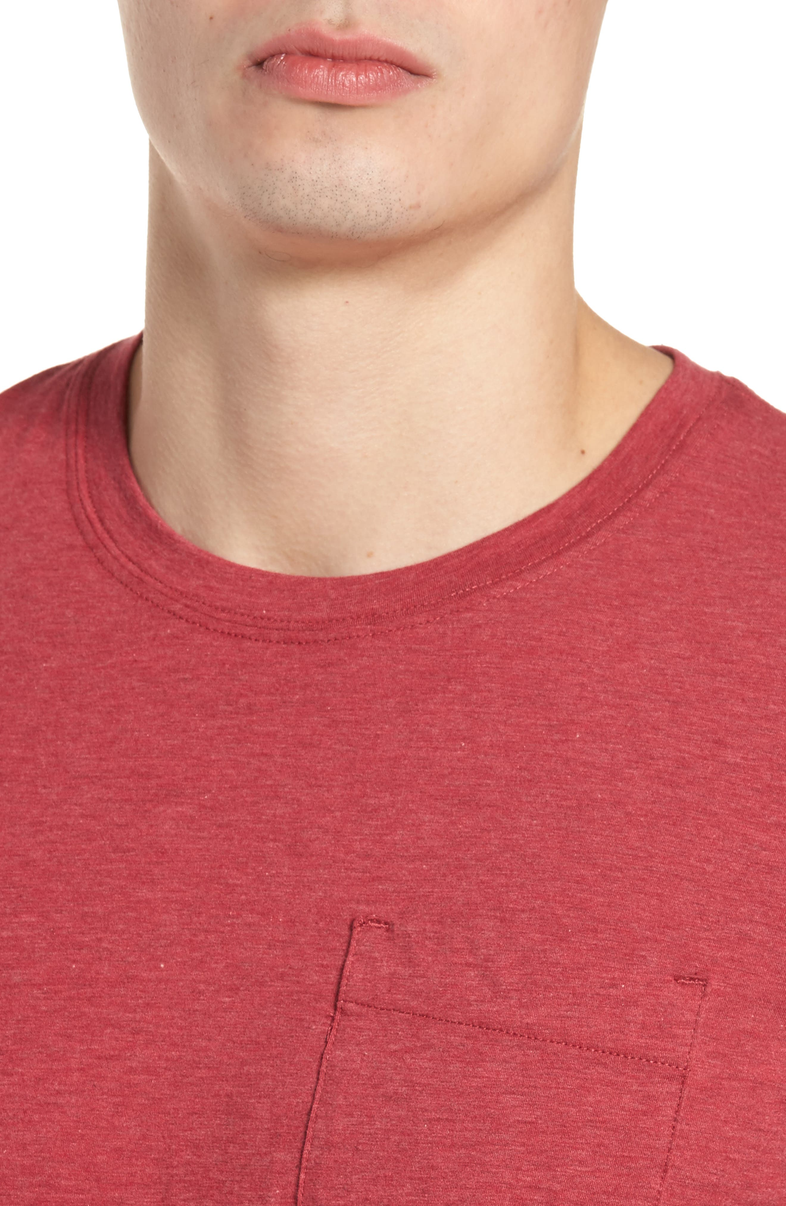 Hedrick T-Shirt,                             Alternate thumbnail 4, color,                             Heather Ox Blood