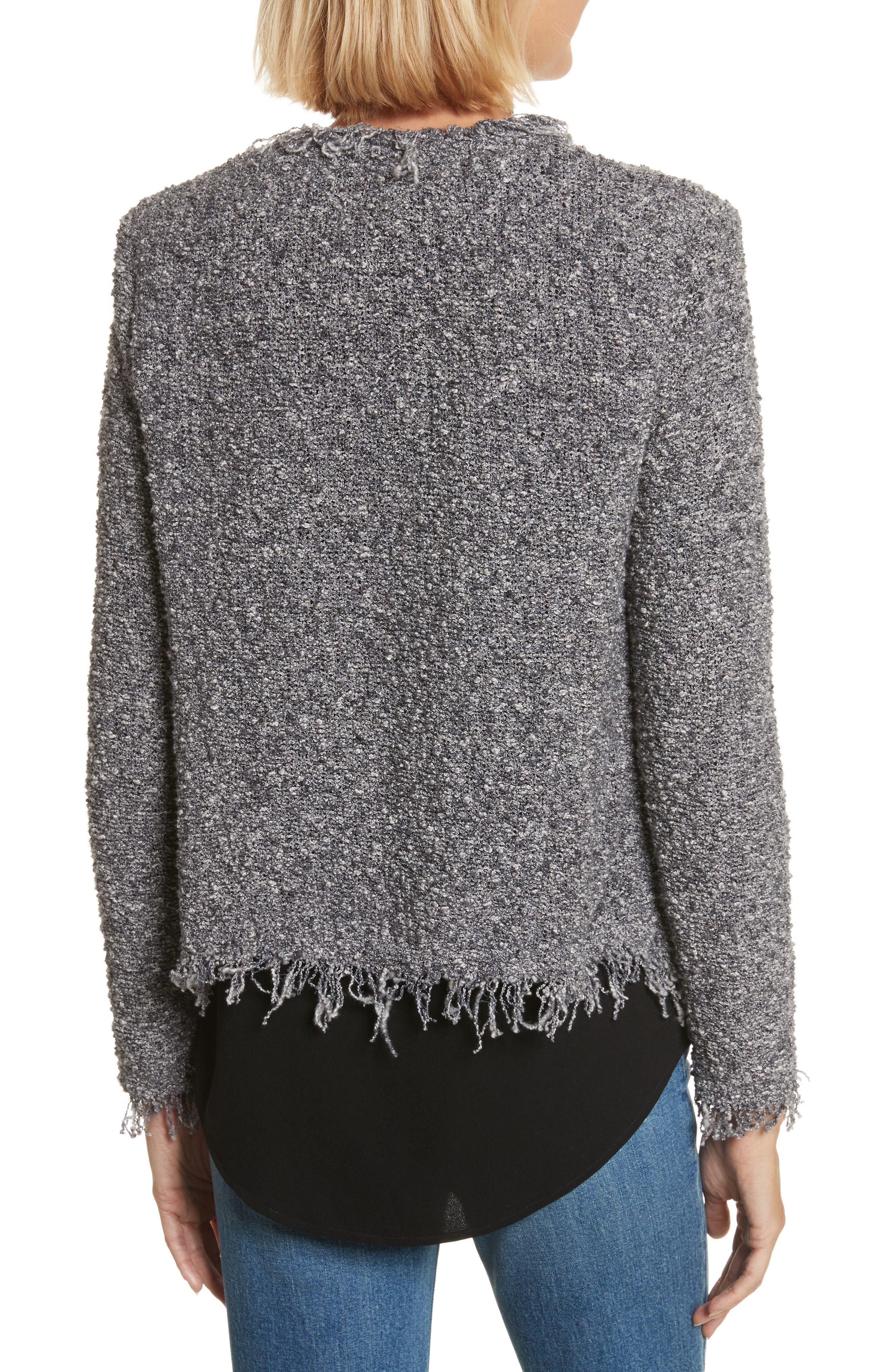 Shavanix Tweed Jacket,                             Alternate thumbnail 2, color,                             Dark Grey