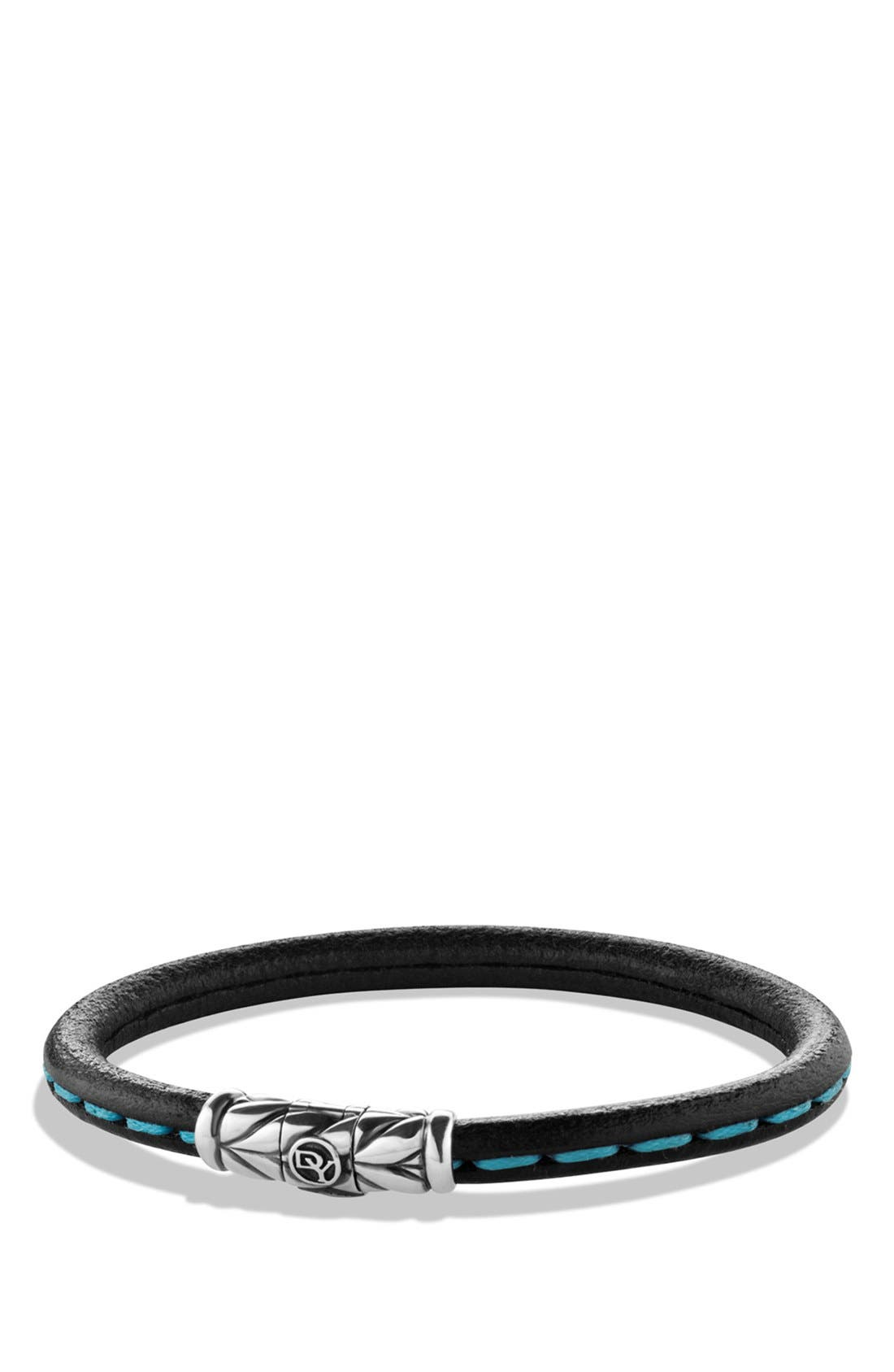 Alternate Image 1 Selected - David Yurman 'Chevron' Leather Bracelet