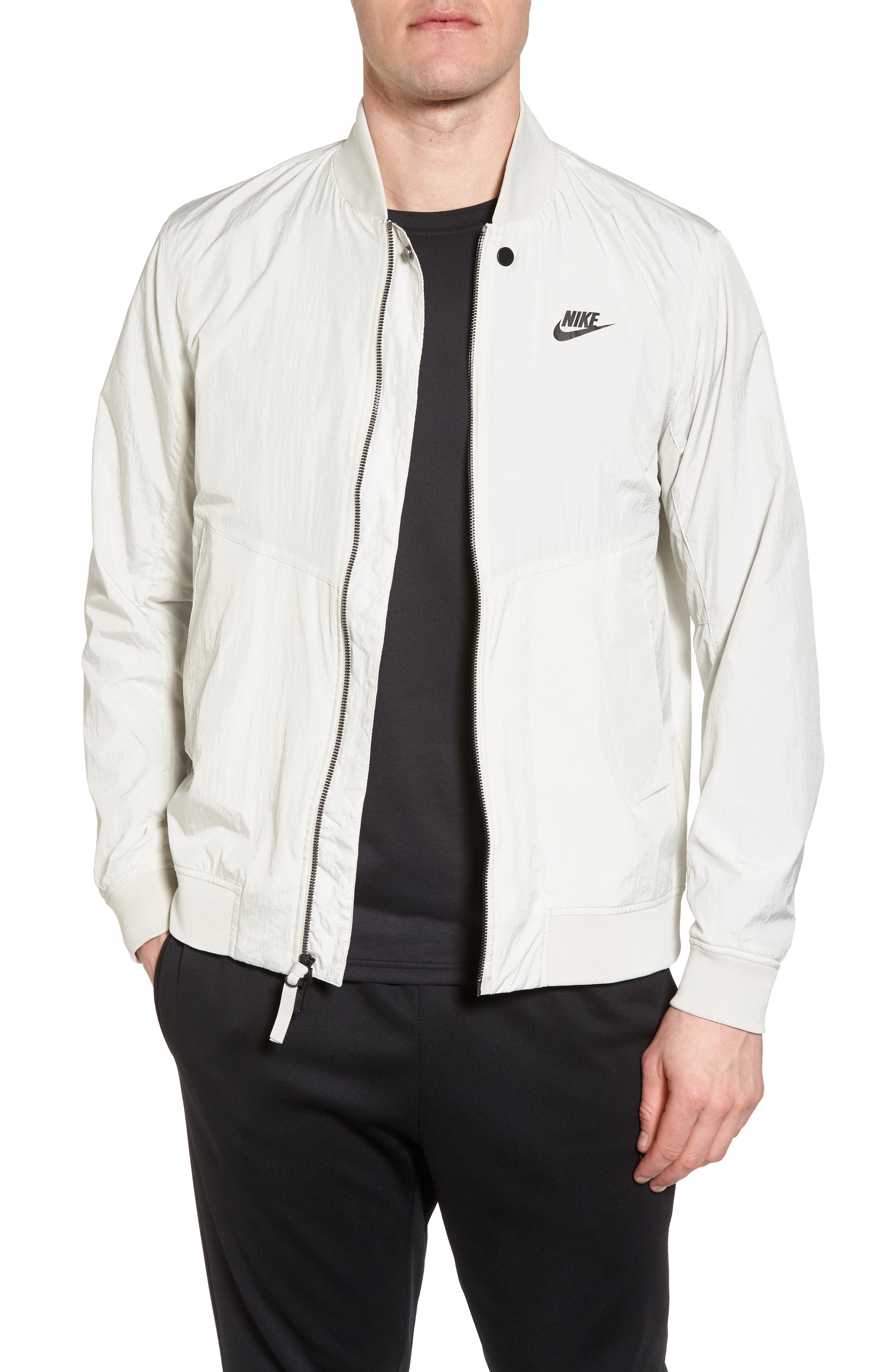 NSW Franchise Varsity Jacket,                             Main thumbnail 1, color,                             Light Bone/ Light Bone/ Black