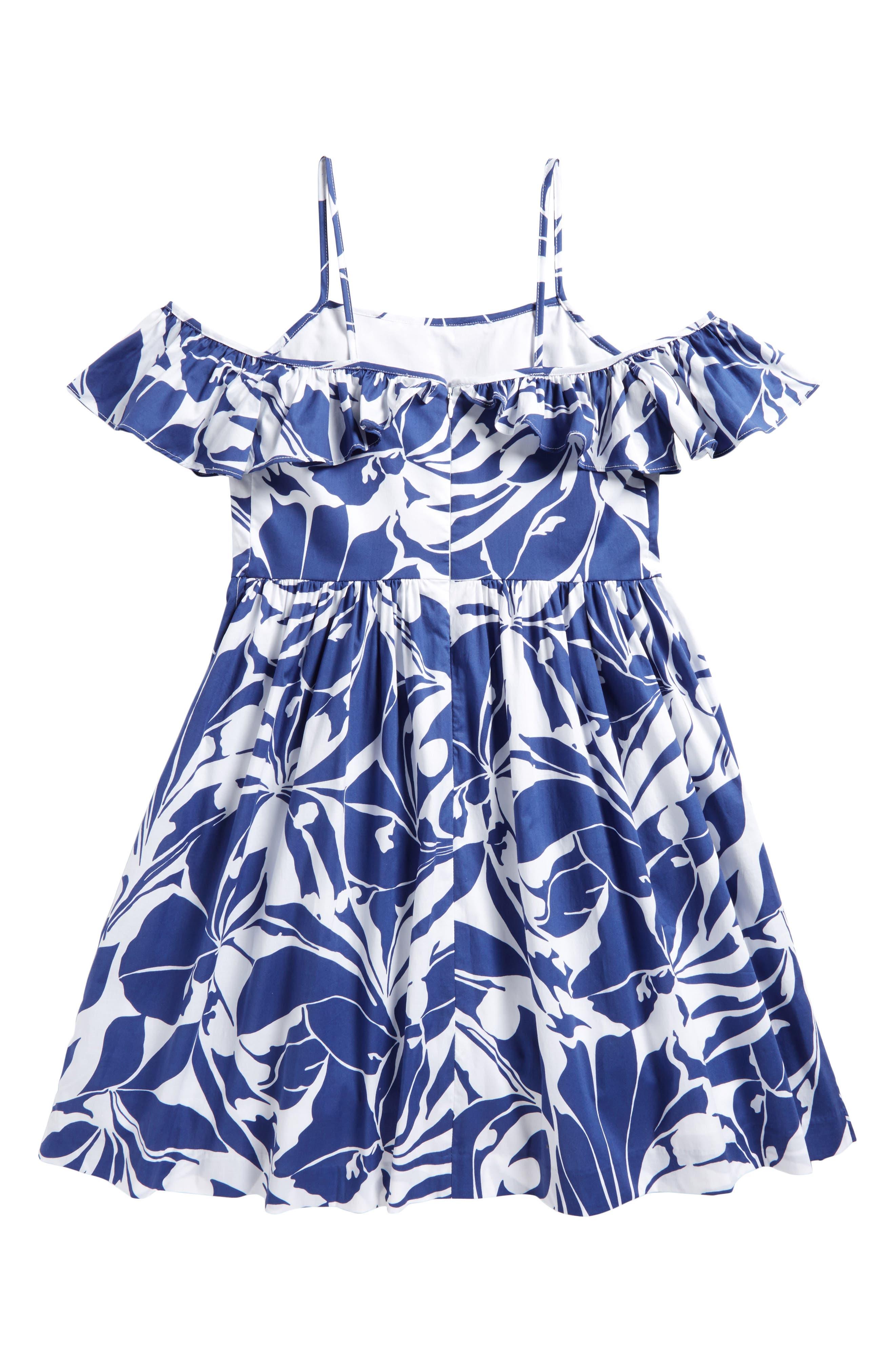 Alternate Image 2  - Milly Minis Bella Cold Shoulder Dress (Big Girls)