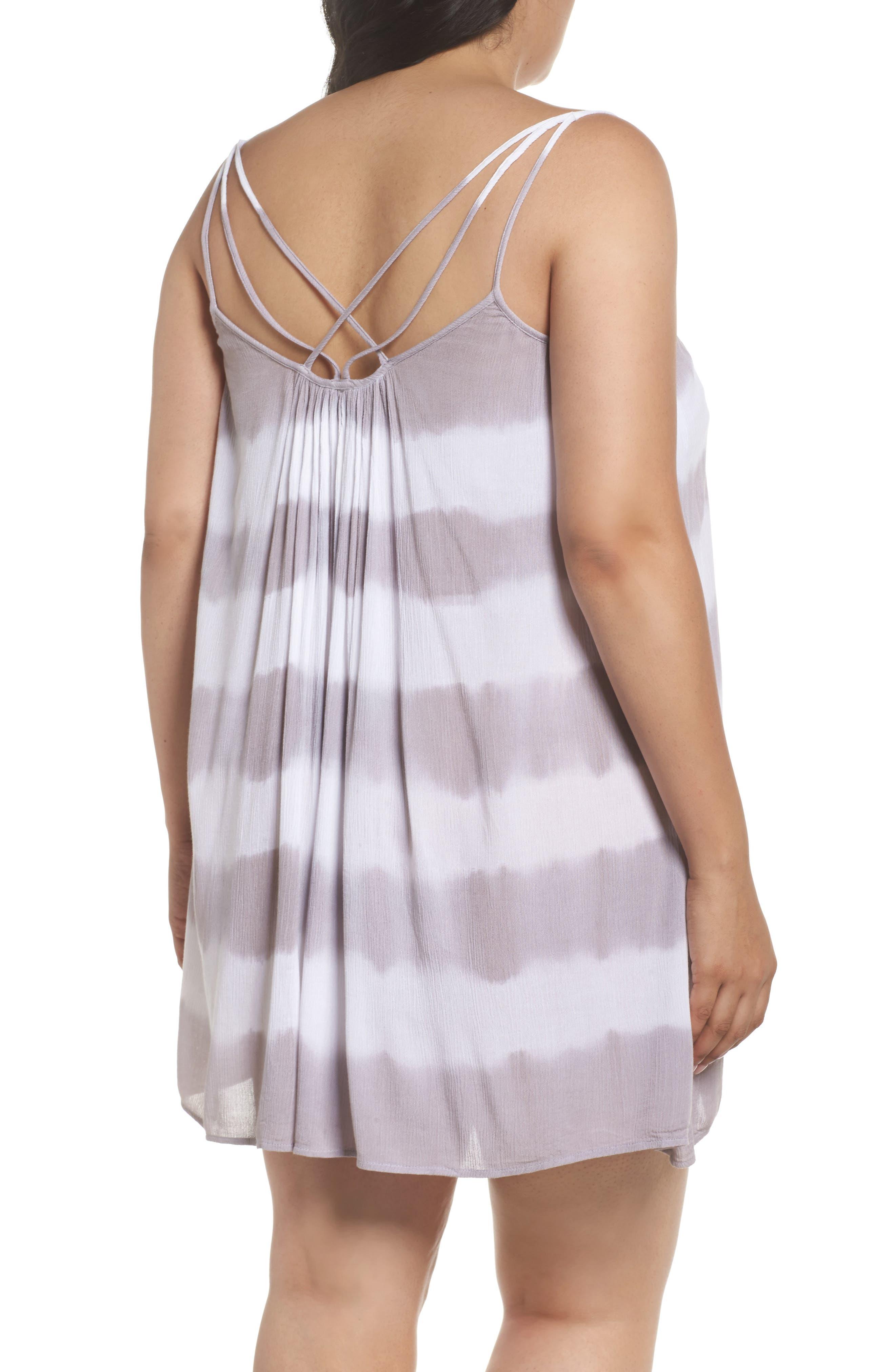 Cover-Up Dress,                             Alternate thumbnail 2, color,                             Grey/White Stripe