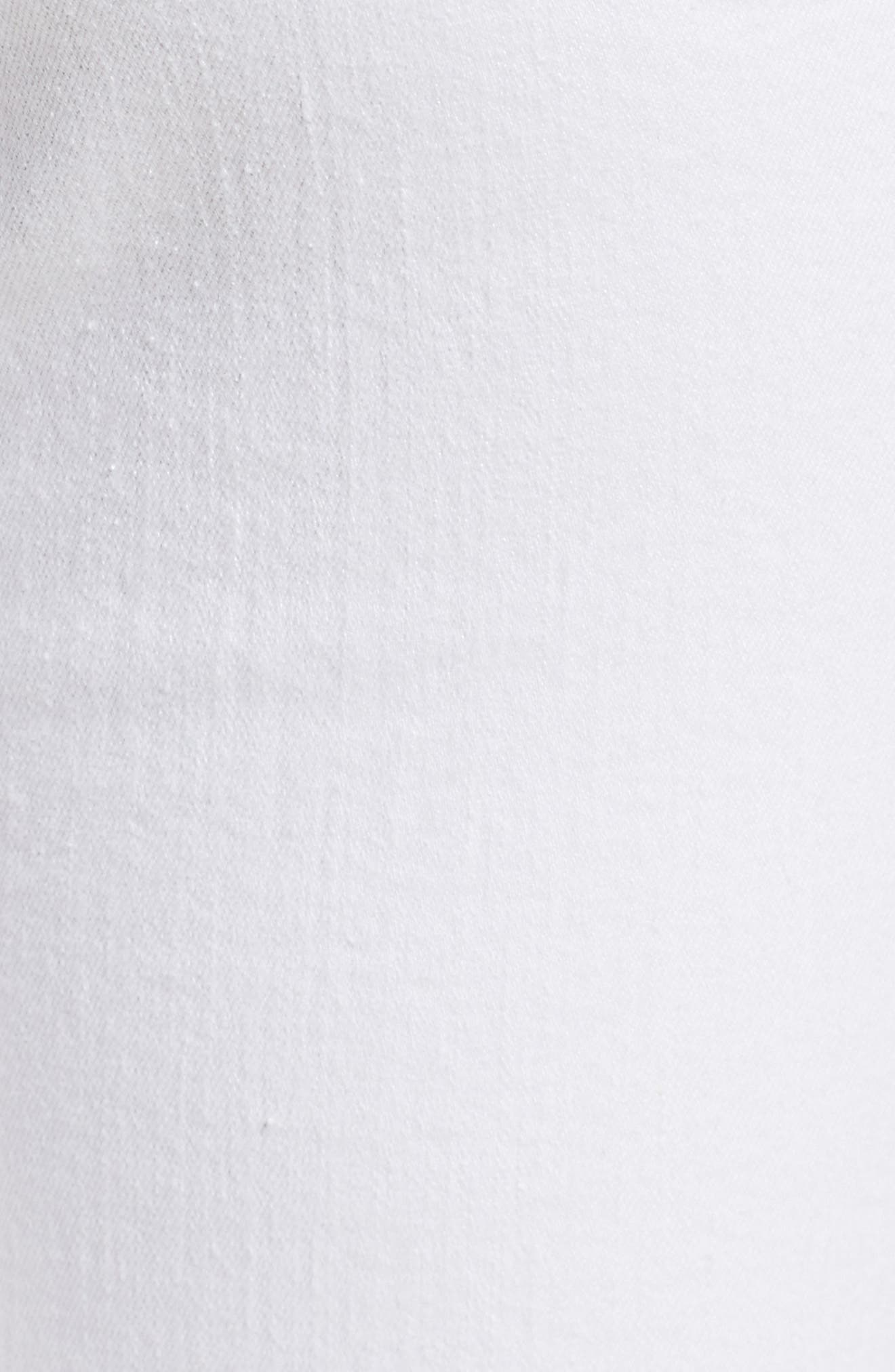 Le Color High Waist Skinny Jeans,                             Alternate thumbnail 6, color,                             Blanc Rip