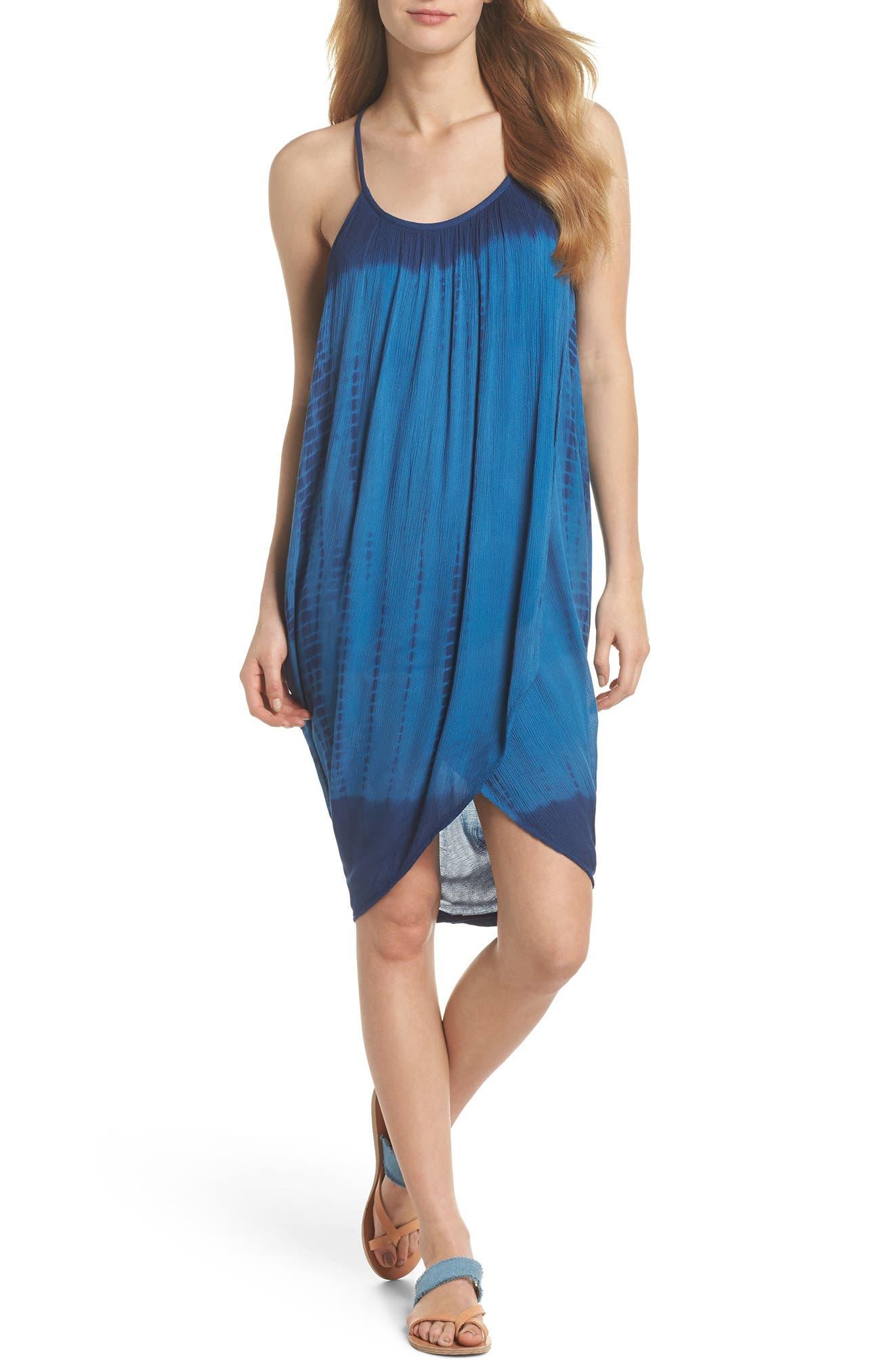 Main Image - Green Dragon High Tide Pali Wrap Cover-Up Dress