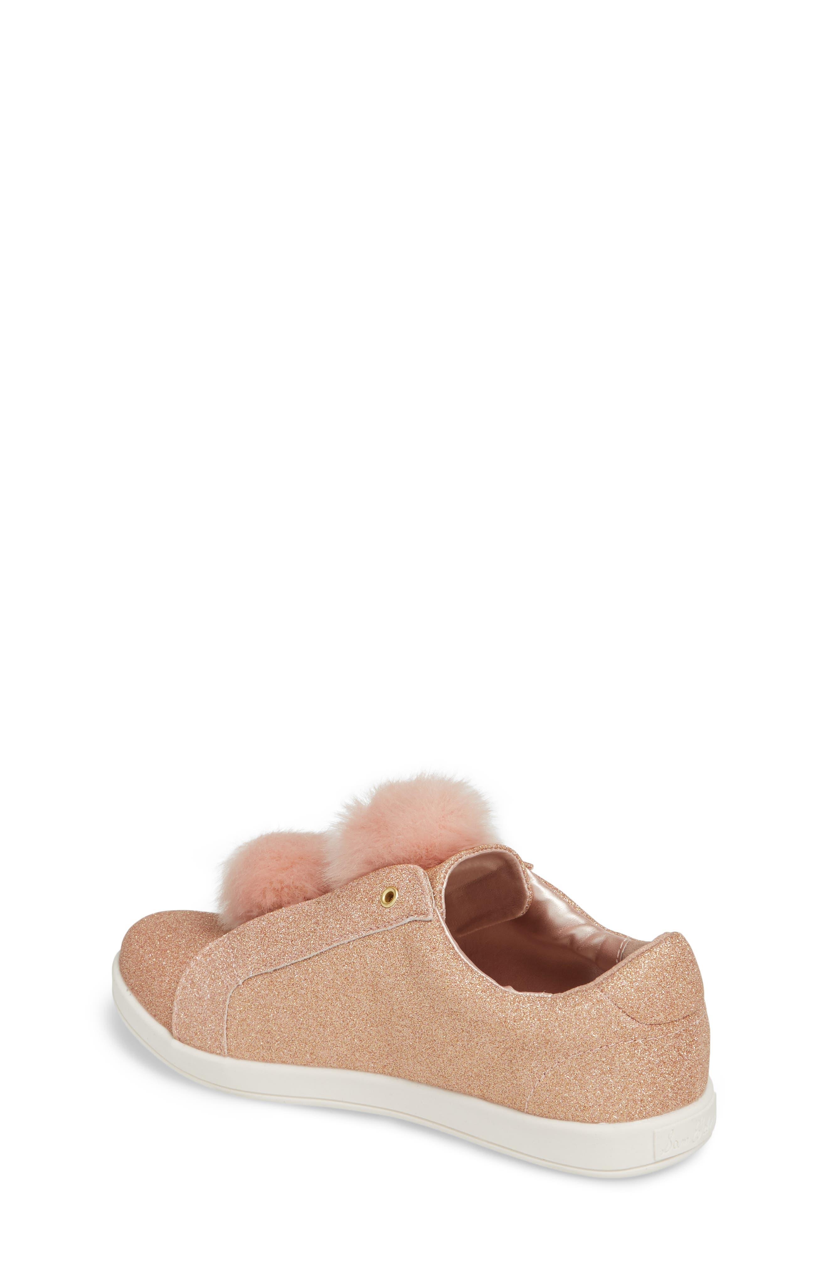 Alternate Image 2  - Sam Edelman Cynthia Leya Faux Fur Pompom Slip-On Sneaker (Toddler, Little Kid & Big Kid)