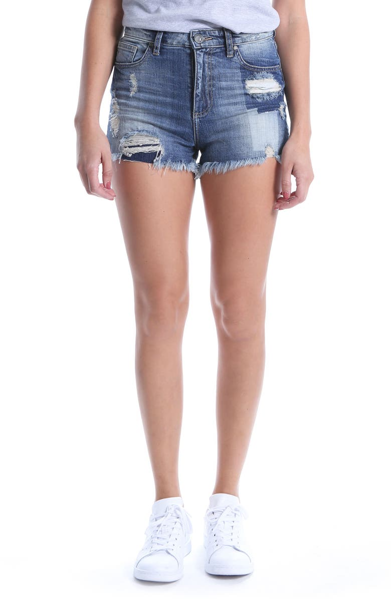 KUT Kollection High Waist Ripped Denim Shorts