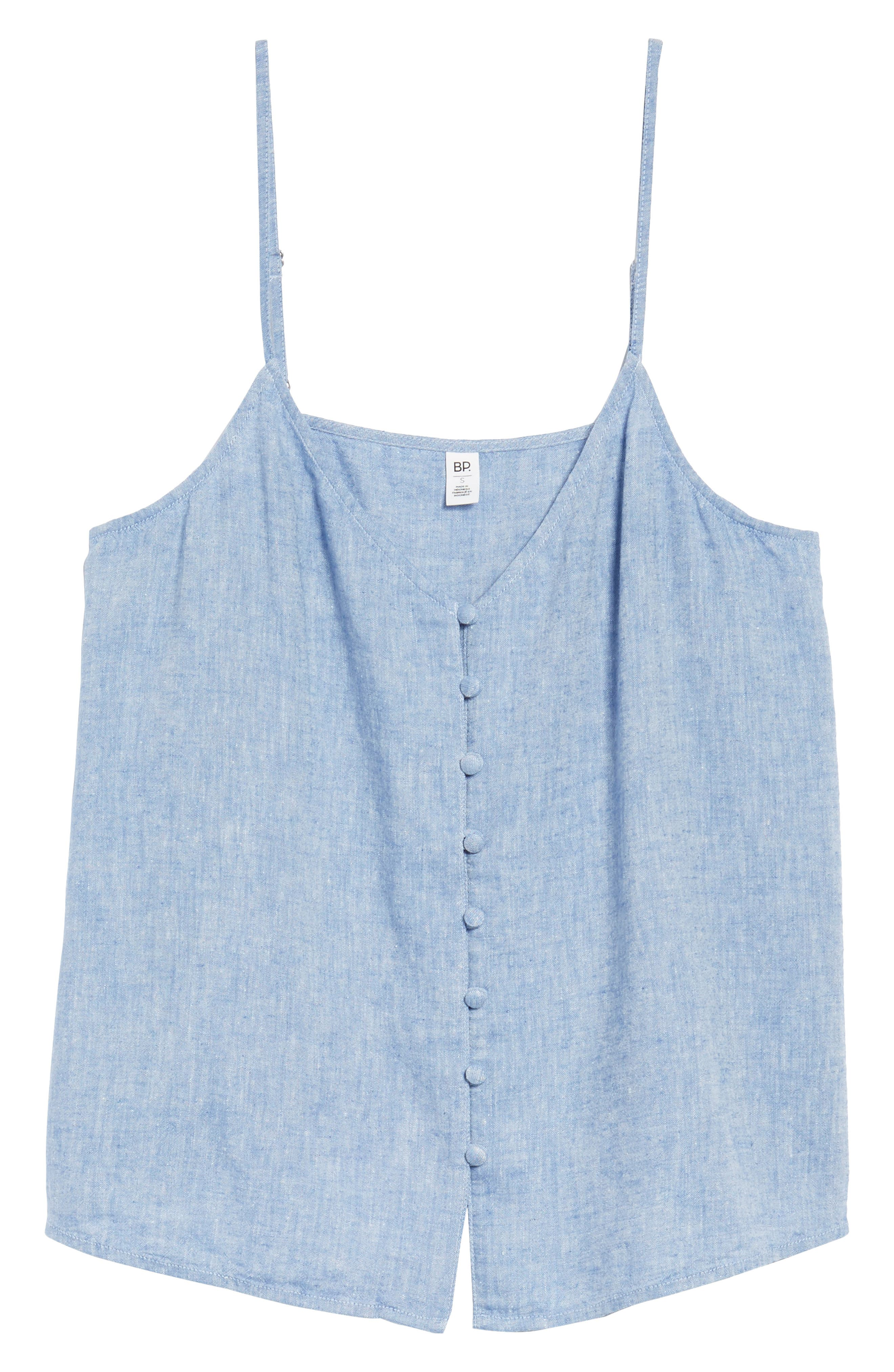 Button Front Camisole,                             Alternate thumbnail 7, color,                             Blue Yonder Crossdye
