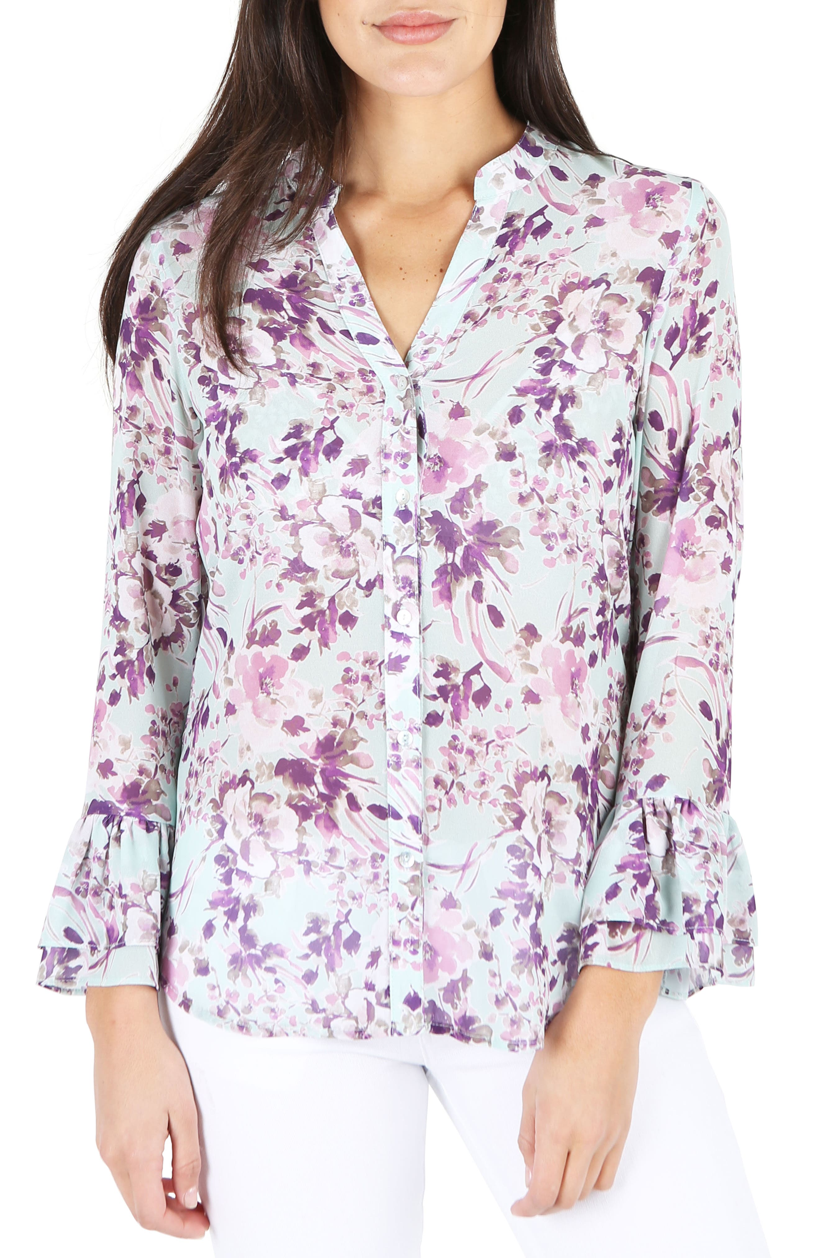 KUT from the Kloth Gilda Bell Sleeve Blouse
