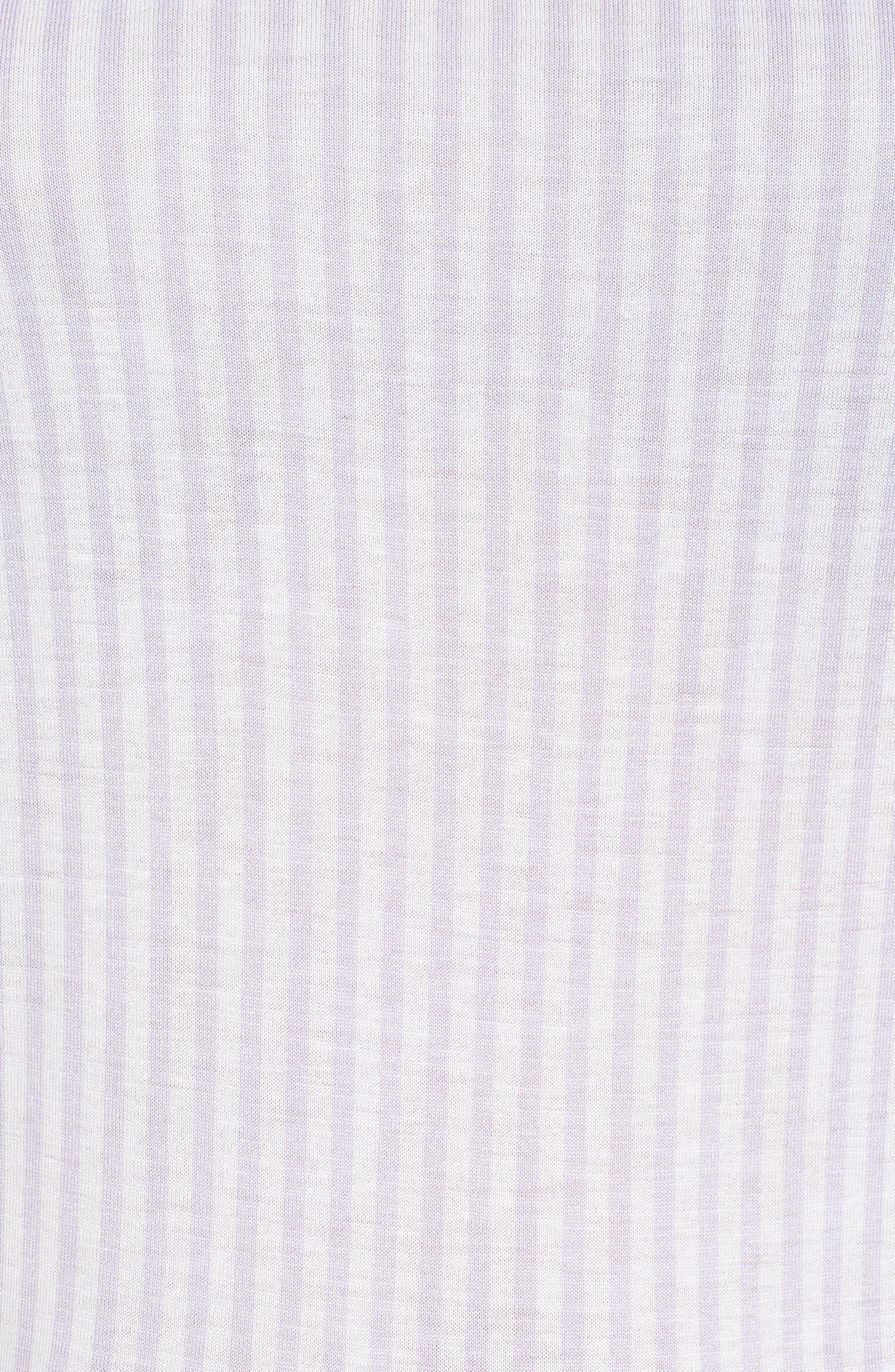 Stripe Layered Hem Top,                             Alternate thumbnail 5, color,                             Light Quartz/ White