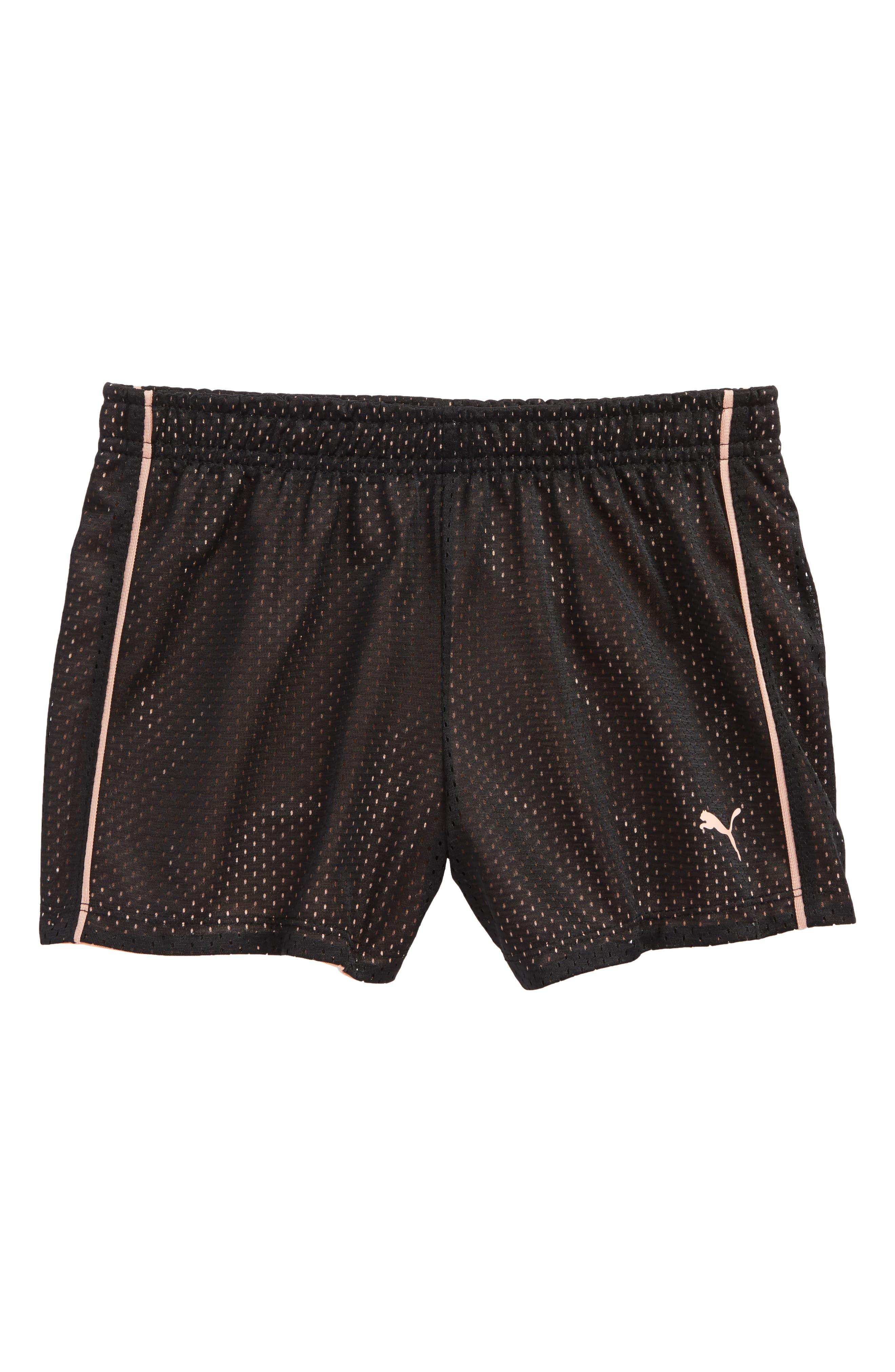 Mesh Shorts,                             Main thumbnail 1, color,                             Puma Black