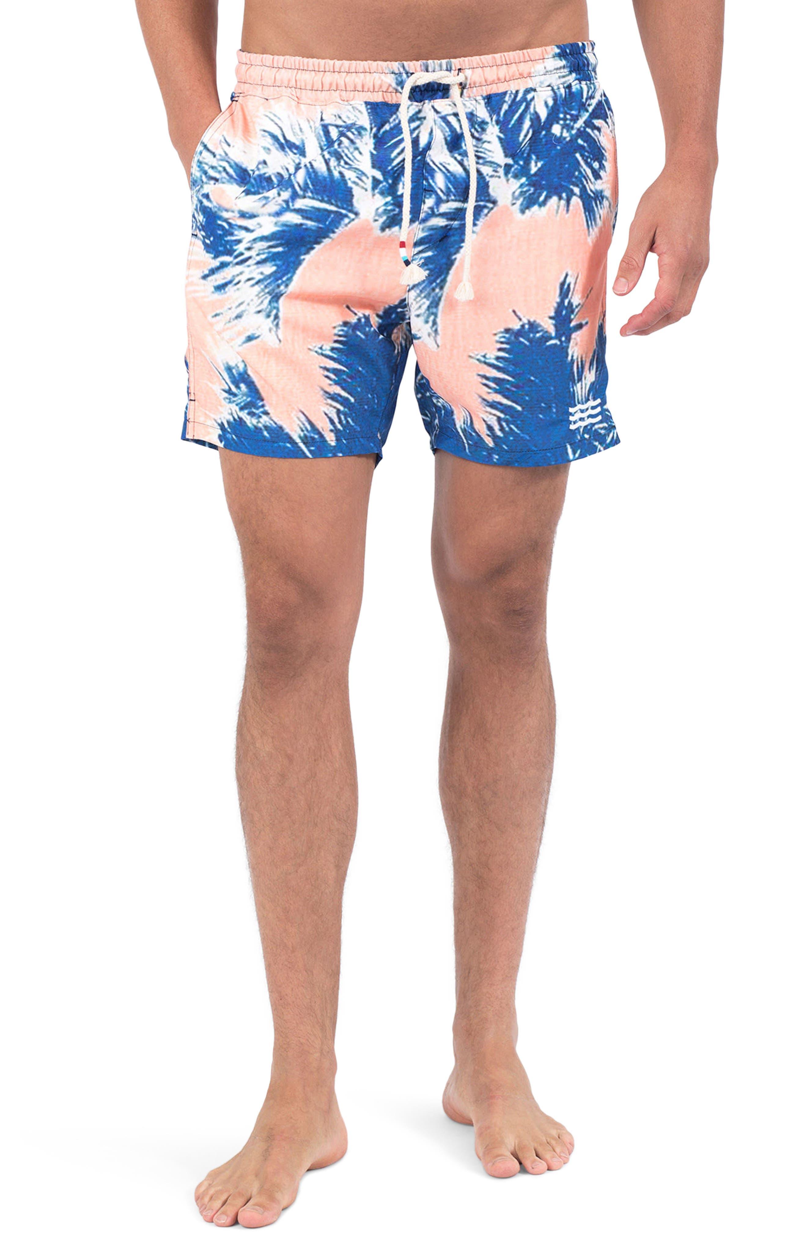 Paleta Palm Swim Shorts,                             Main thumbnail 1, color,                             Paleta Palm