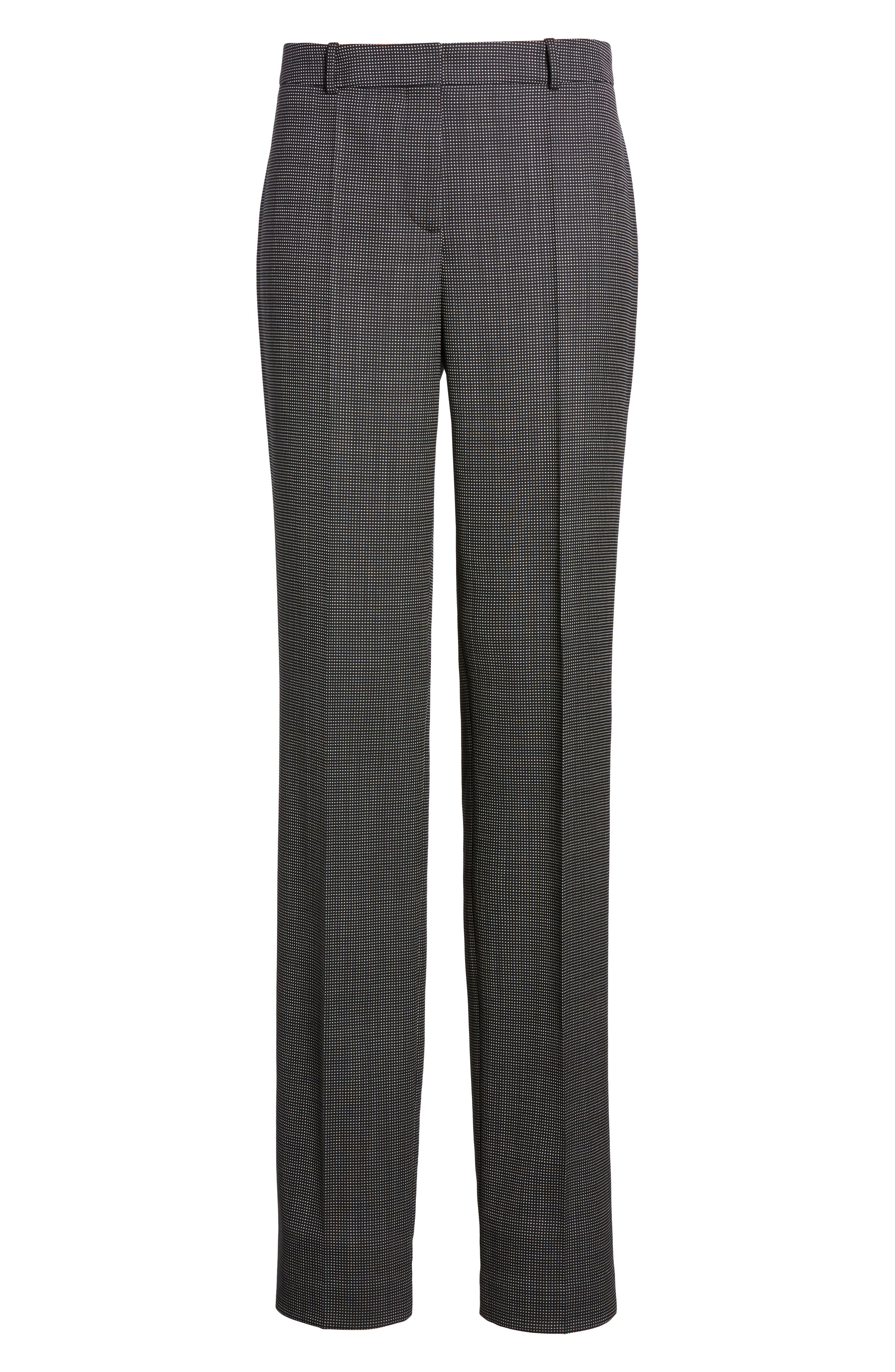 Tamea Straight Leg Stretch Wool Suit Pants,                             Alternate thumbnail 6, color,                             Black Fantasy