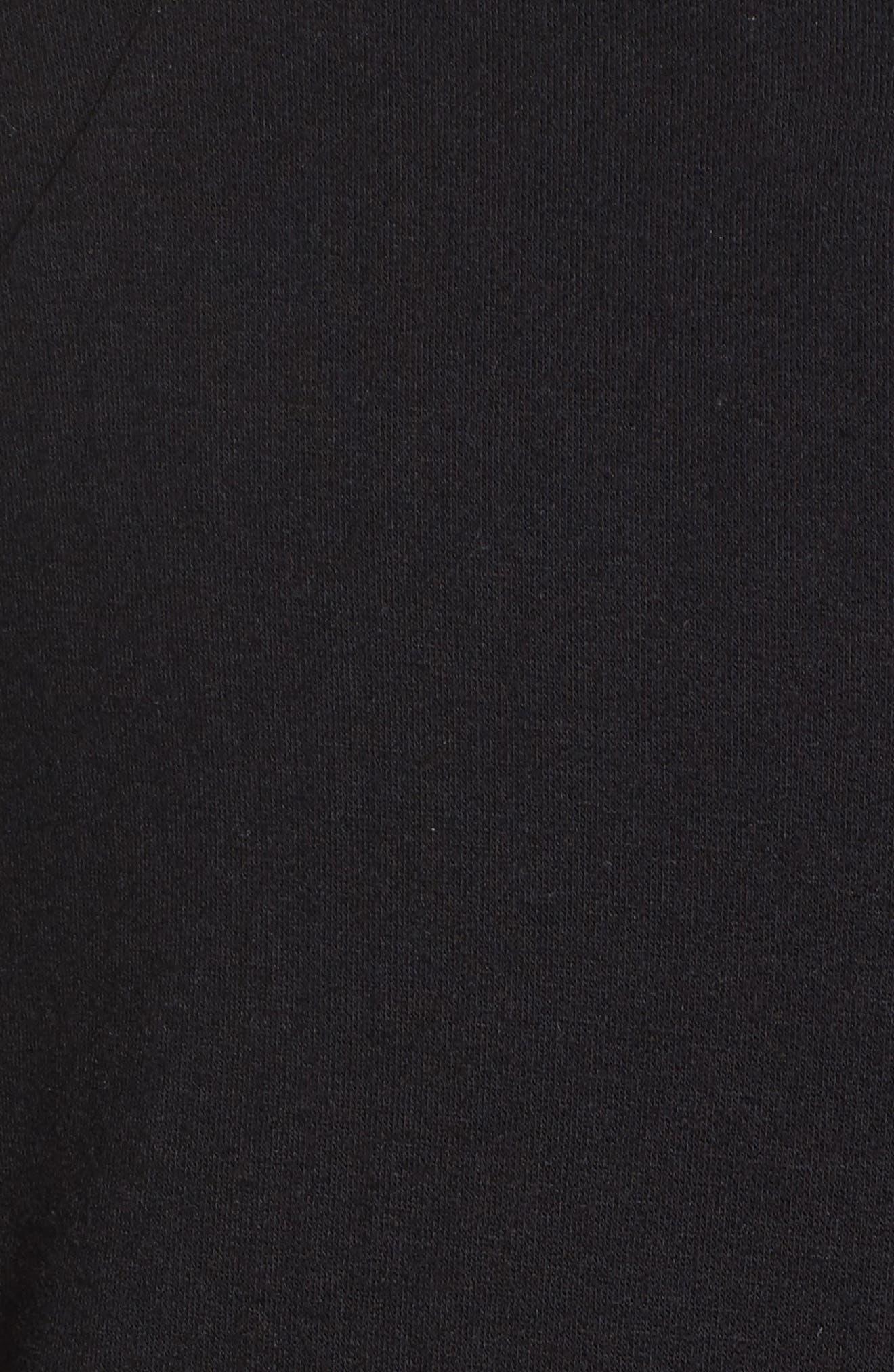 Snap Me Down Pullover,                             Alternate thumbnail 6, color,                             Black