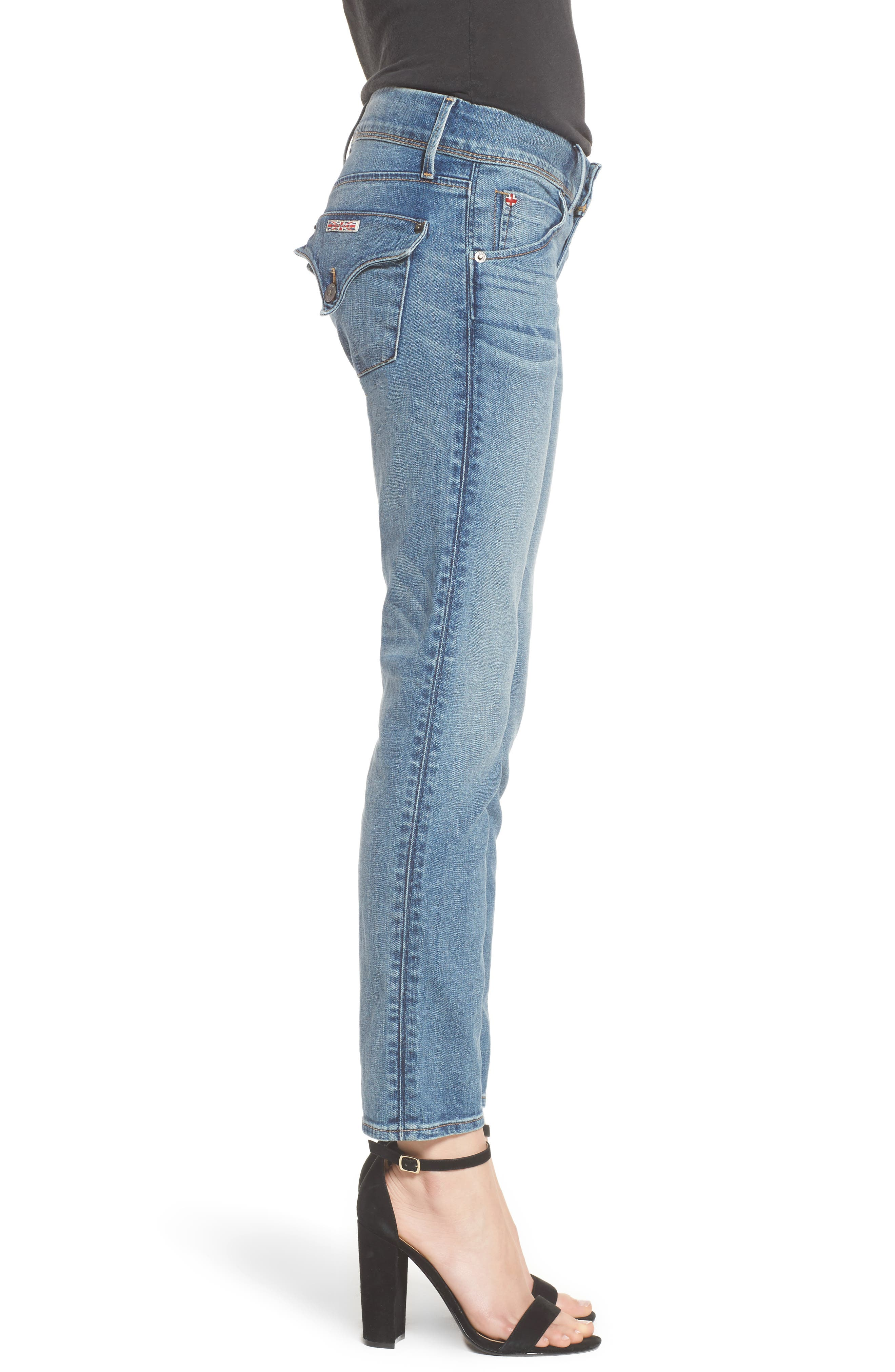 Hudson Collin Skinny Jeans,                             Alternate thumbnail 3, color,                             Hushed